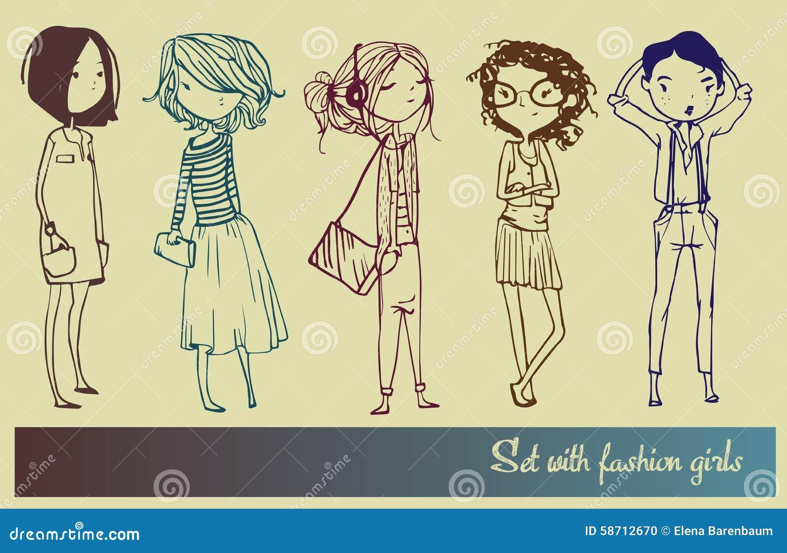 Set z mod dziewczynami