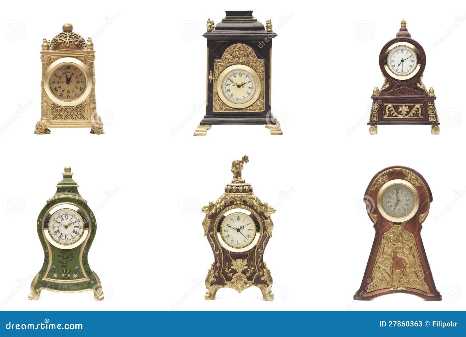 Set zegar na biały tle