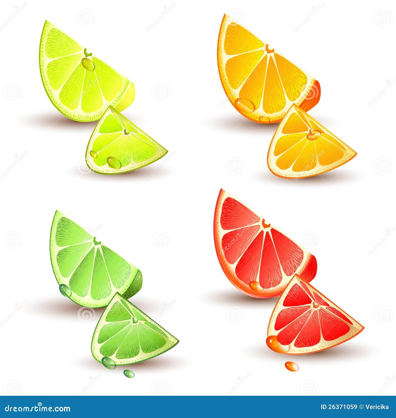 Set Zitrusfrucht