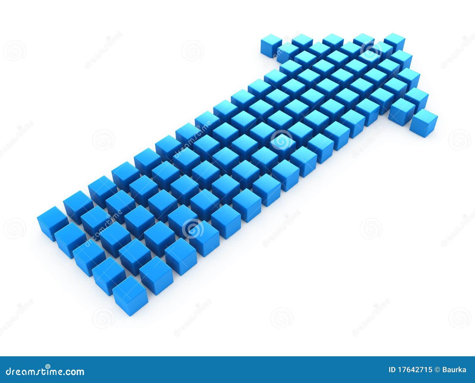 Aparador De Madeira Branco ~ Seta Azul Foto de Stock Royalty Free Imagem 17642715