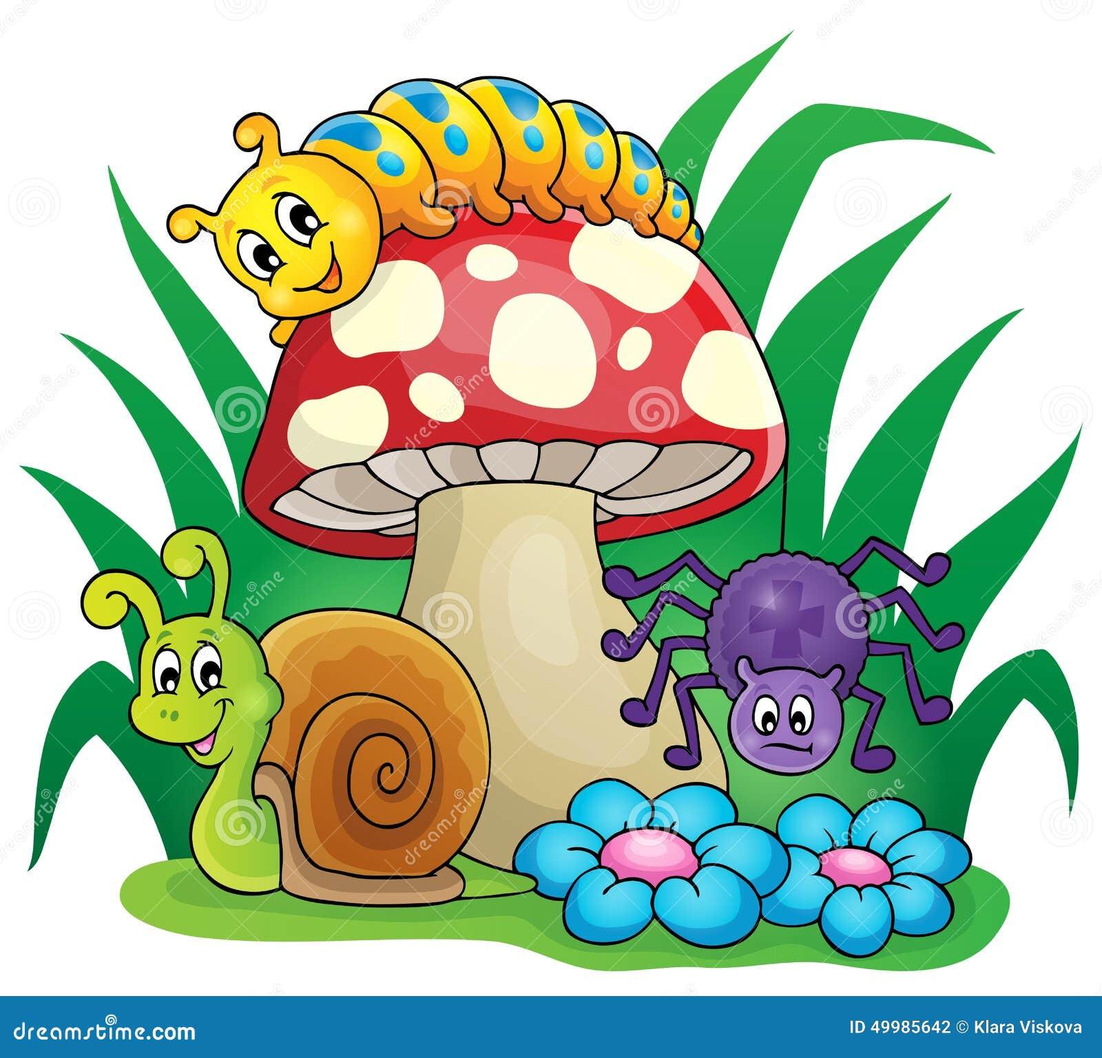 Seta Con Los Pequeños Animales Ilustración del Vector - Ilustración de  pequeños, animales: 49985642