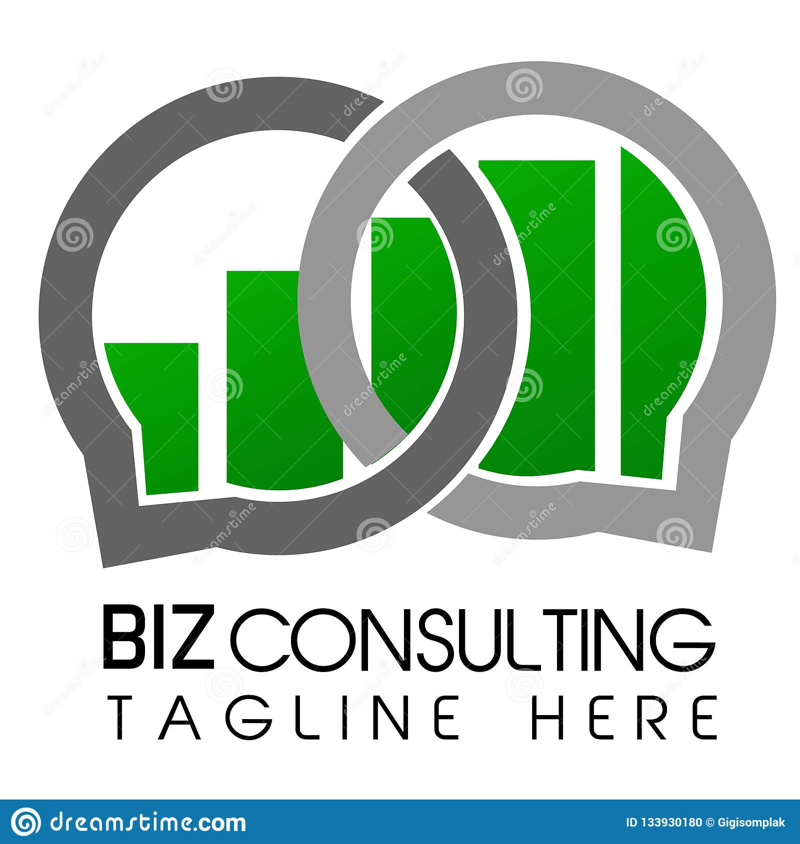 Seta de Logo Simple Shinning Cirle e consulta azul de Logo Business da barra