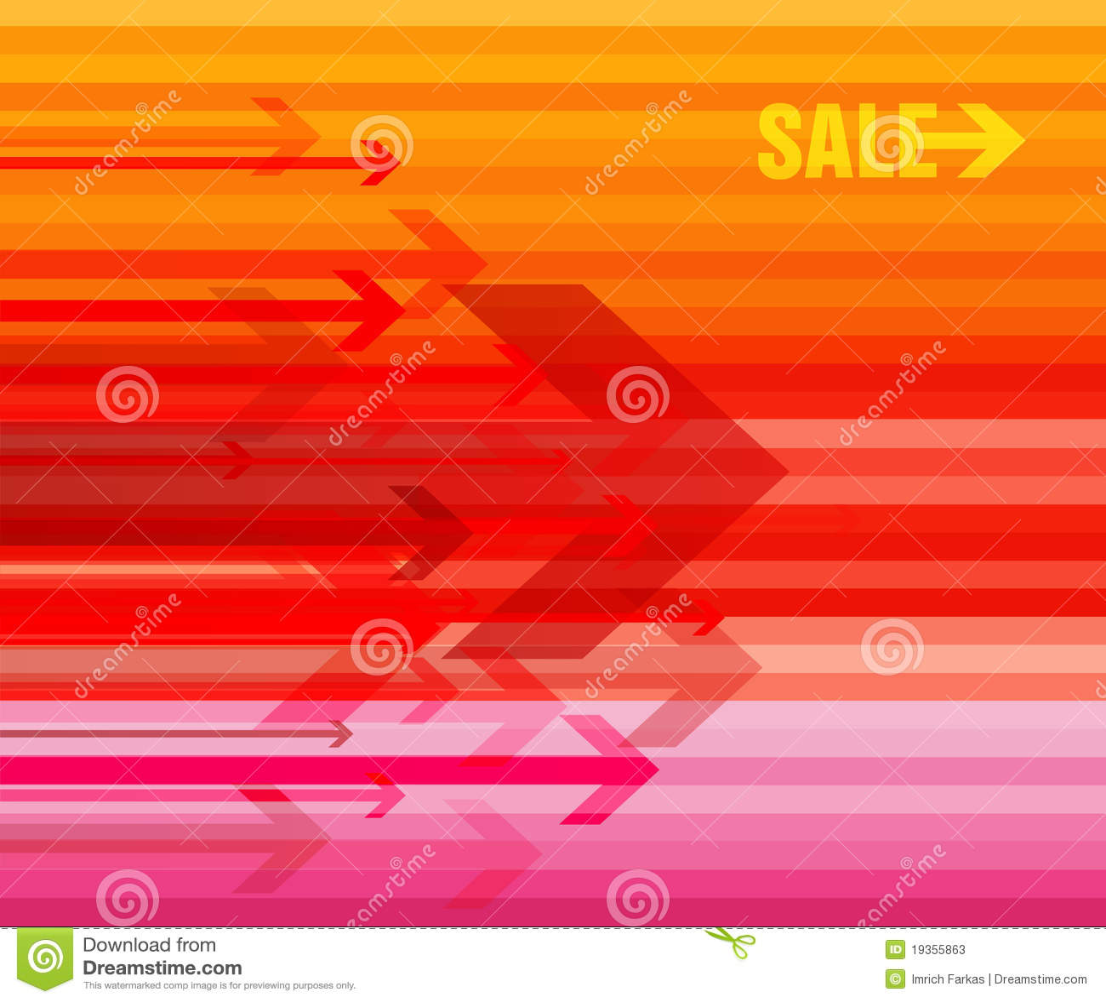 Setas coloridas com venda.