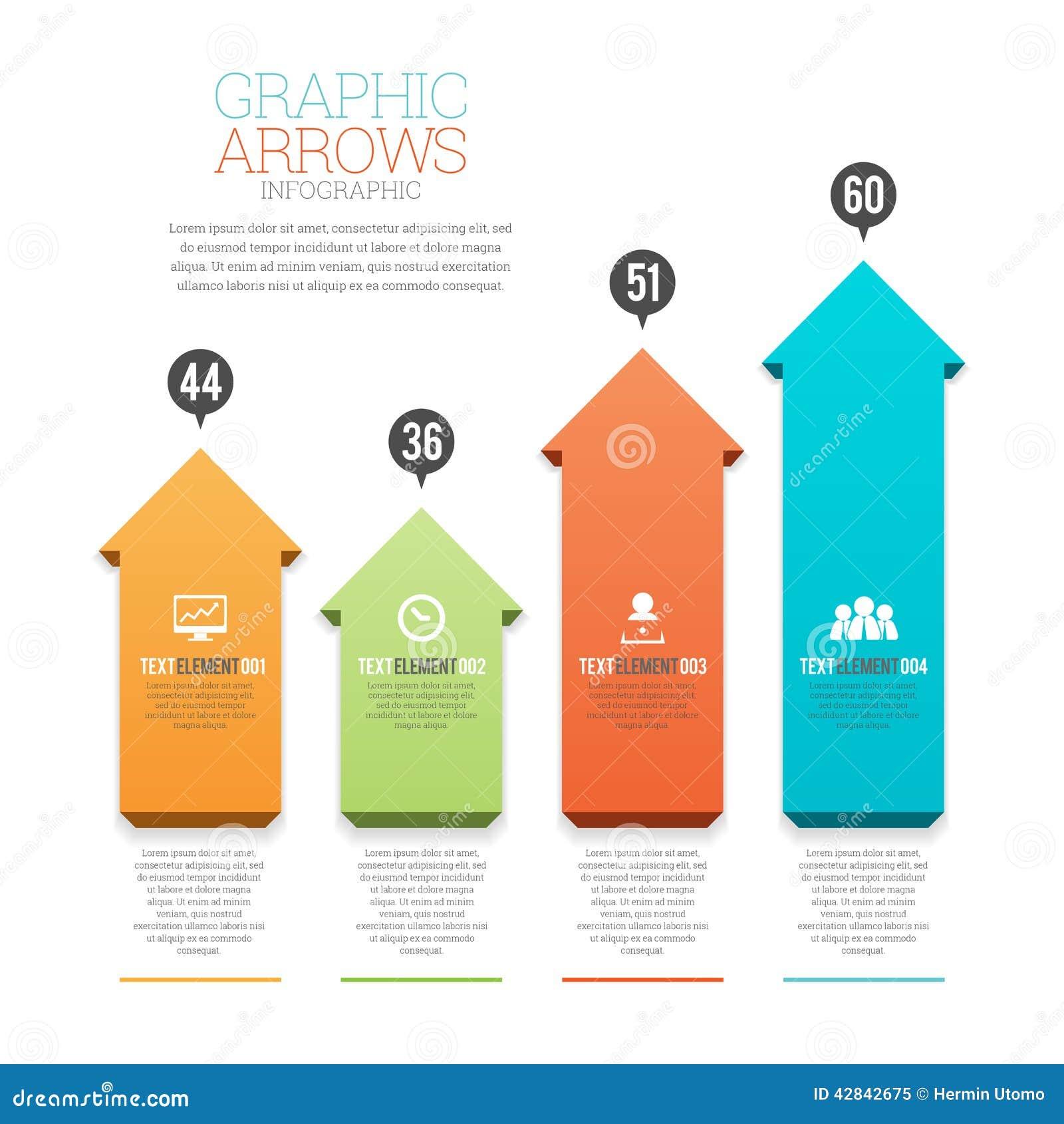 Setas gráficas Infographic