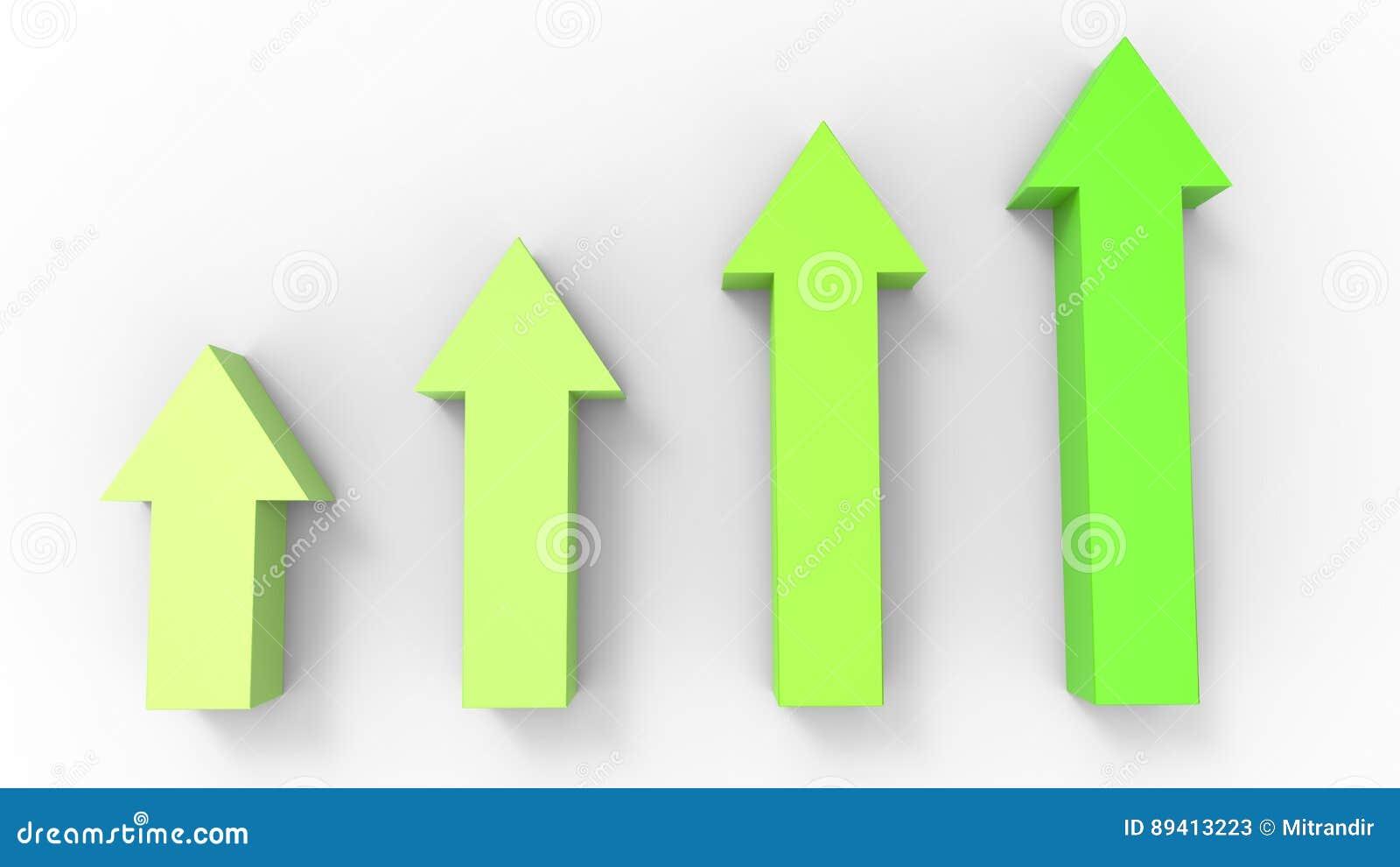 Setas verde-clara que apontam acima