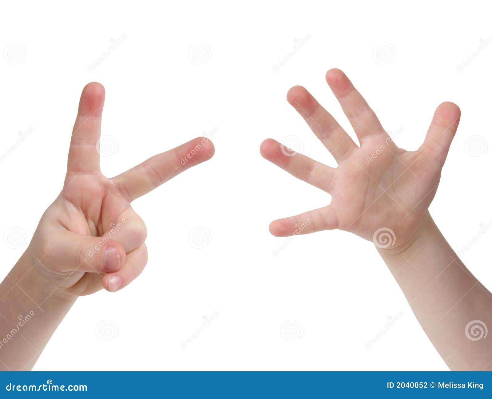 Sete Dedos Fotografia De Stock