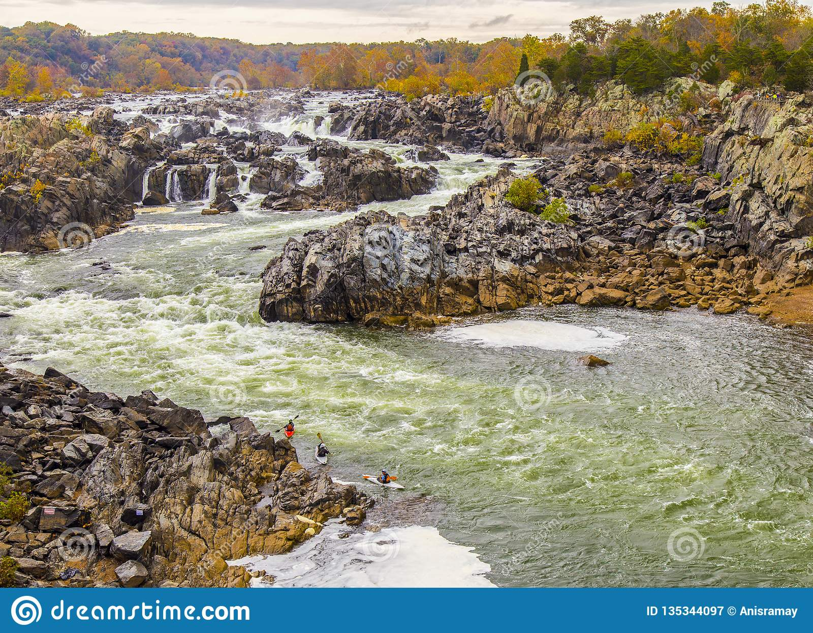 Sete quedas parque estadual, Washington DC, Virgínia, VA