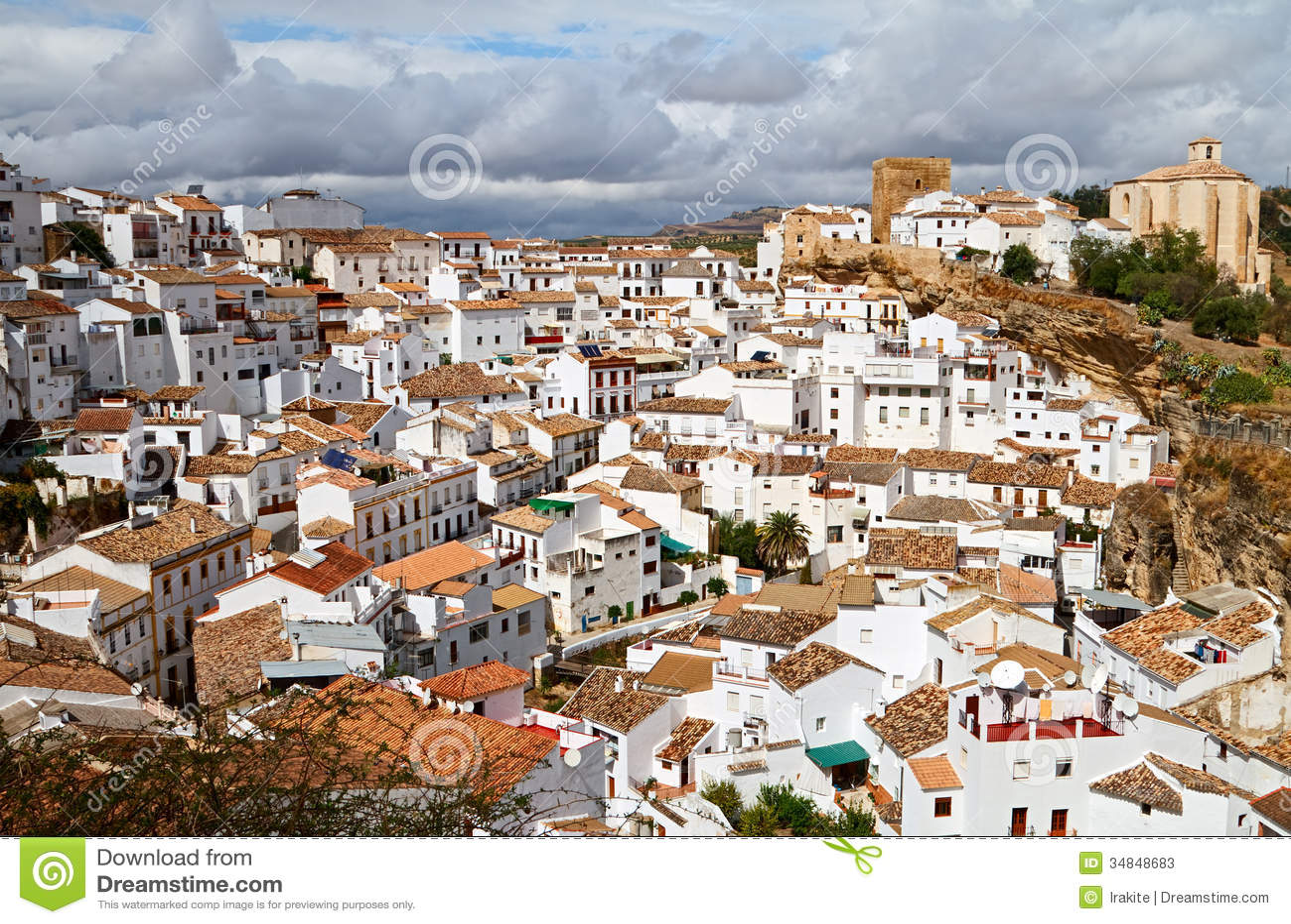 Setenil De Las Bodegas Stock Image Image Of Destinations