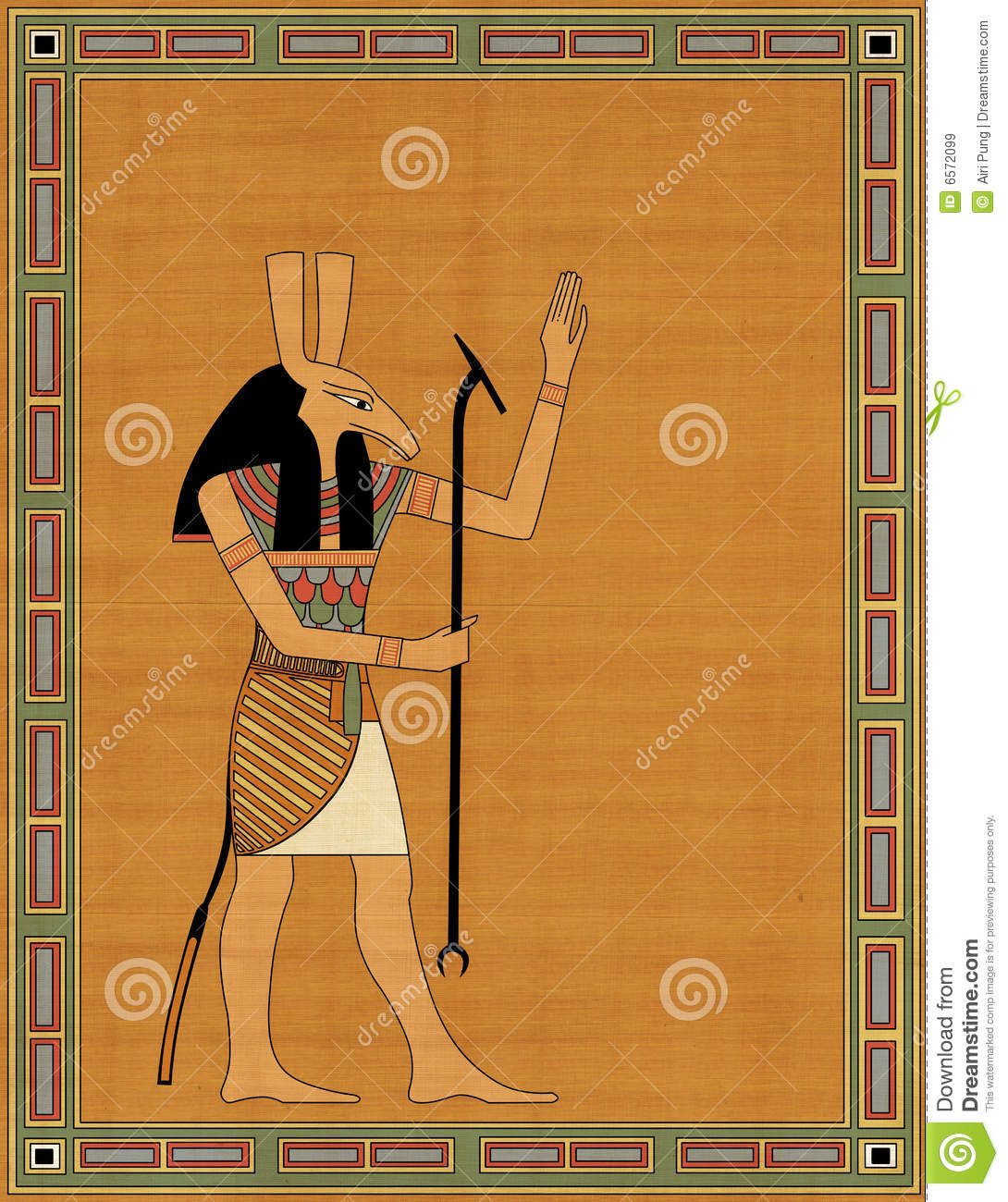 Seth The Egyptian Evil God Royalty Free Stock Images