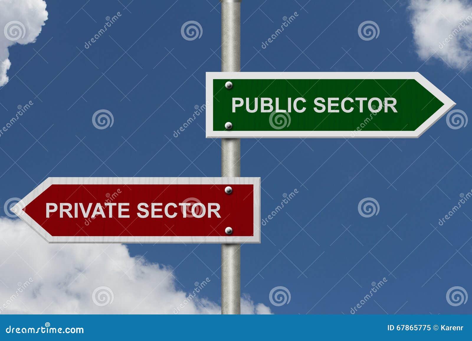 Setor público contra o setor privado