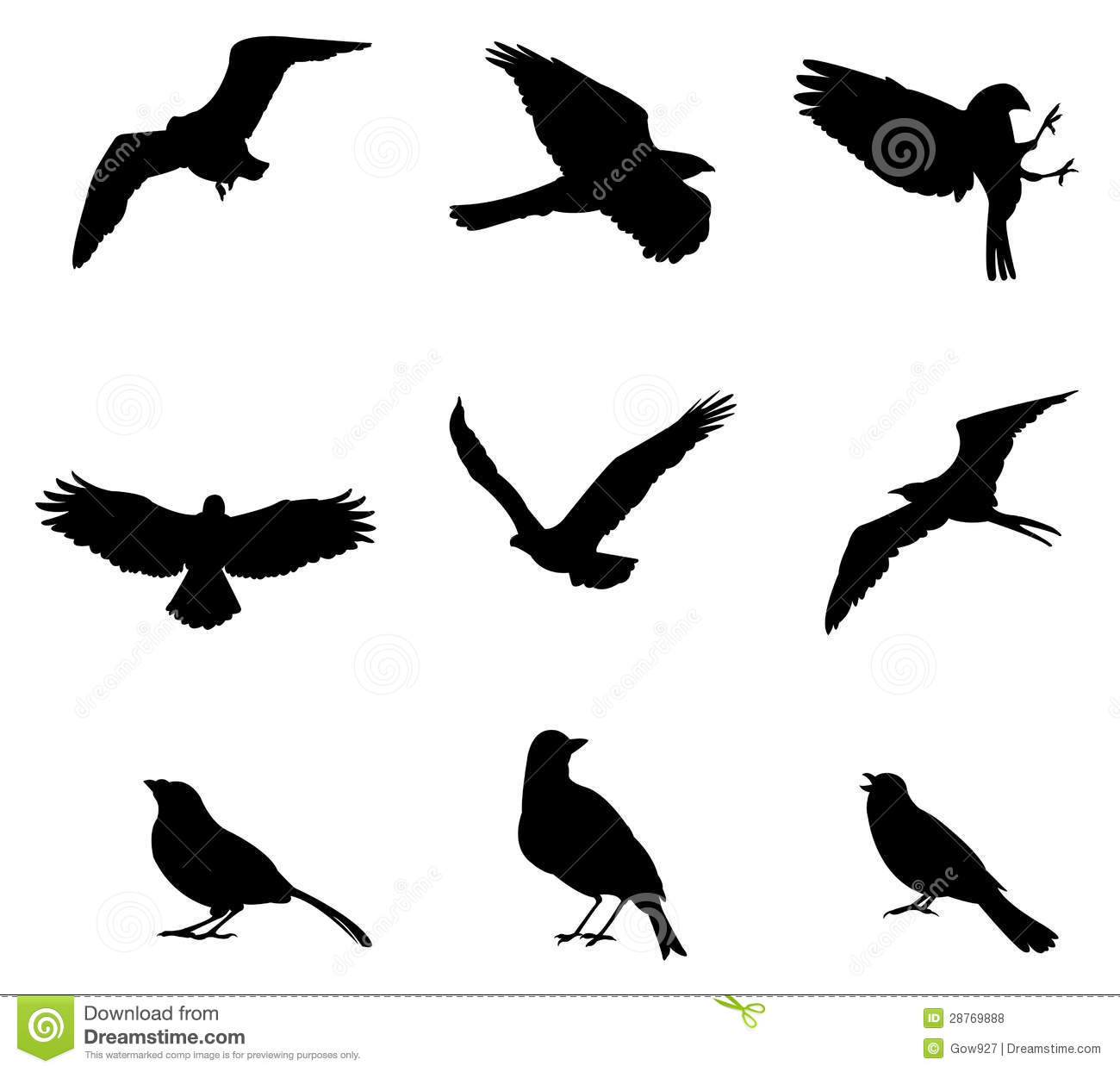 sets of silhouette birds  create by vector royalty free little bird silhouette vector bird silhouette free vector