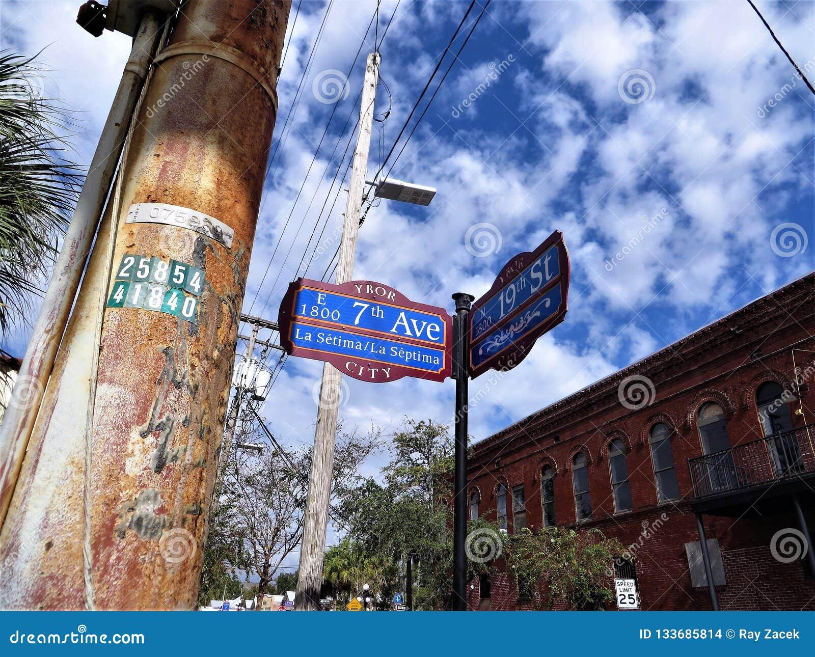 Settimo viale, città di Ybor, Tampa