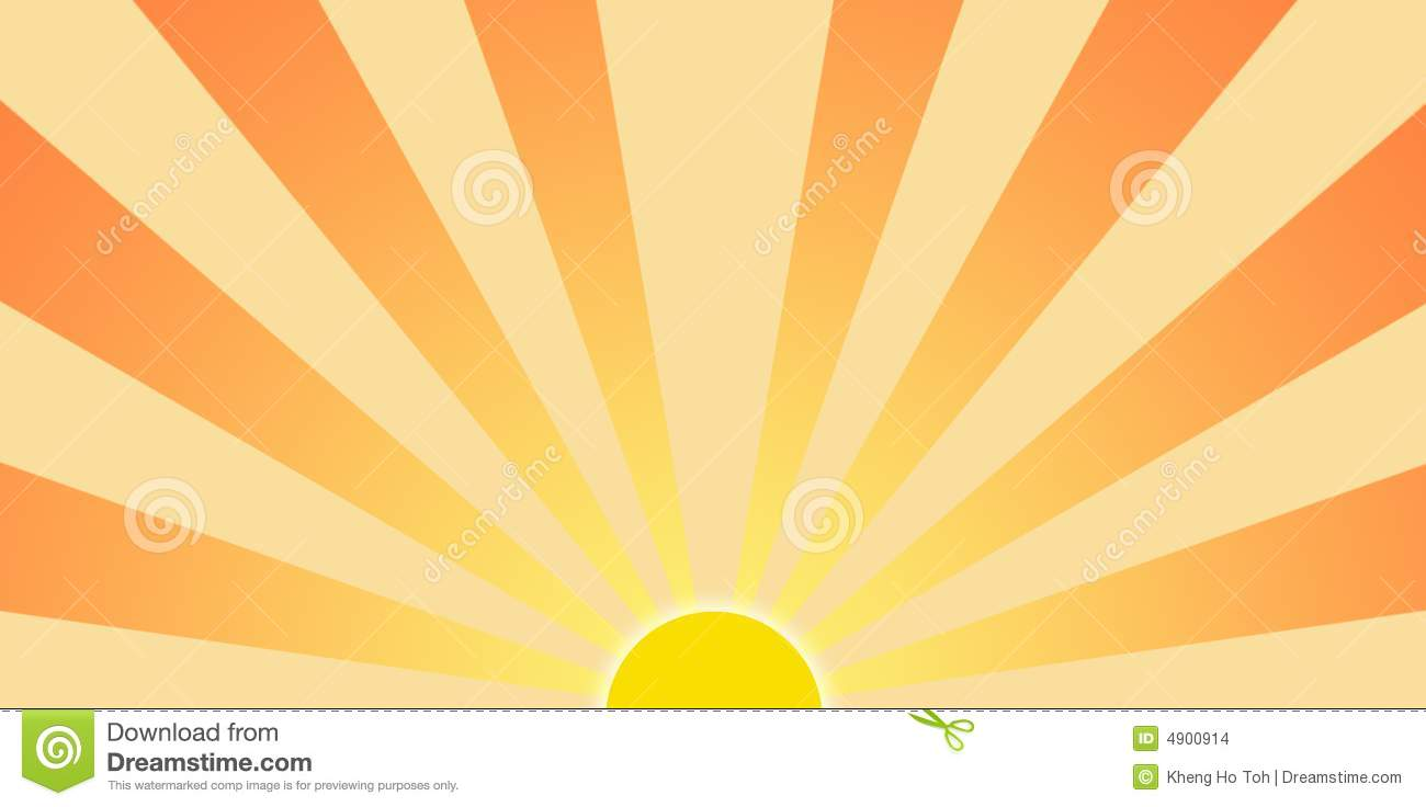 Setting Sun Graphic Clip Art Stock Images  Image: 4900914