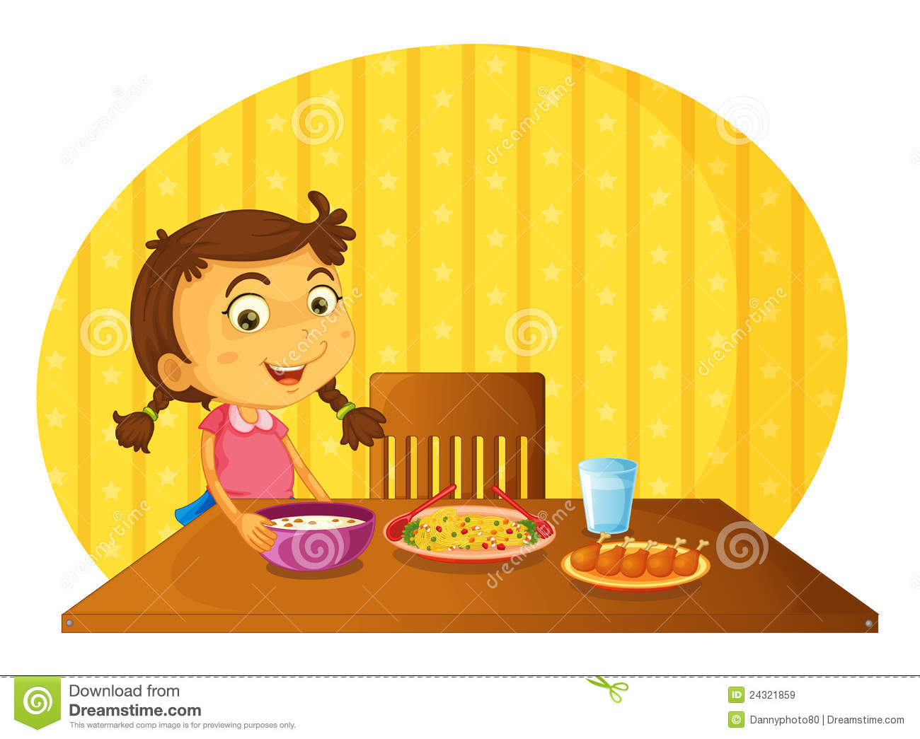Setting the table royalty free stock images image 24321859 - Set table enfant ...