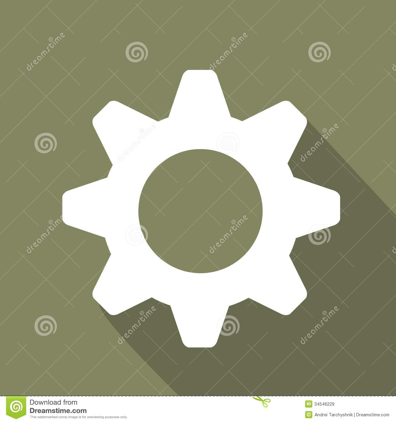 settings web icon flat design royalty free stock images