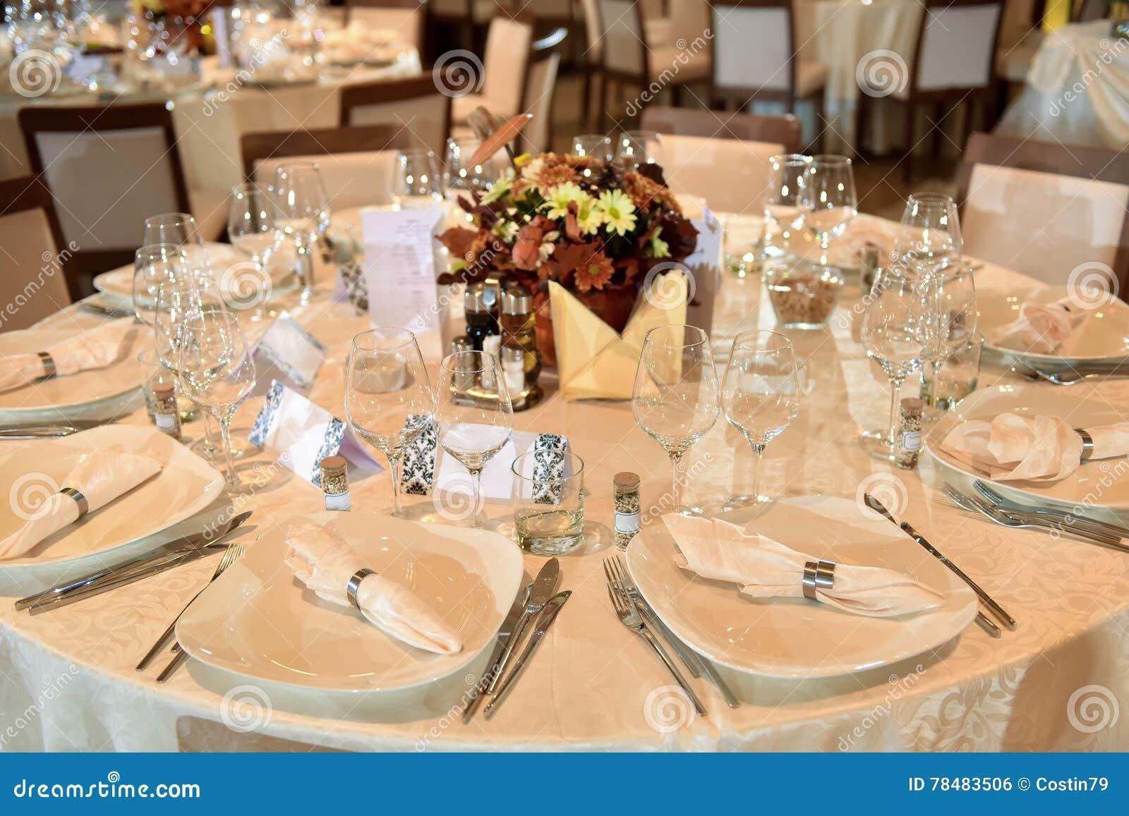 Setup wedding table stock photo. Image of dining, romantic   78483506