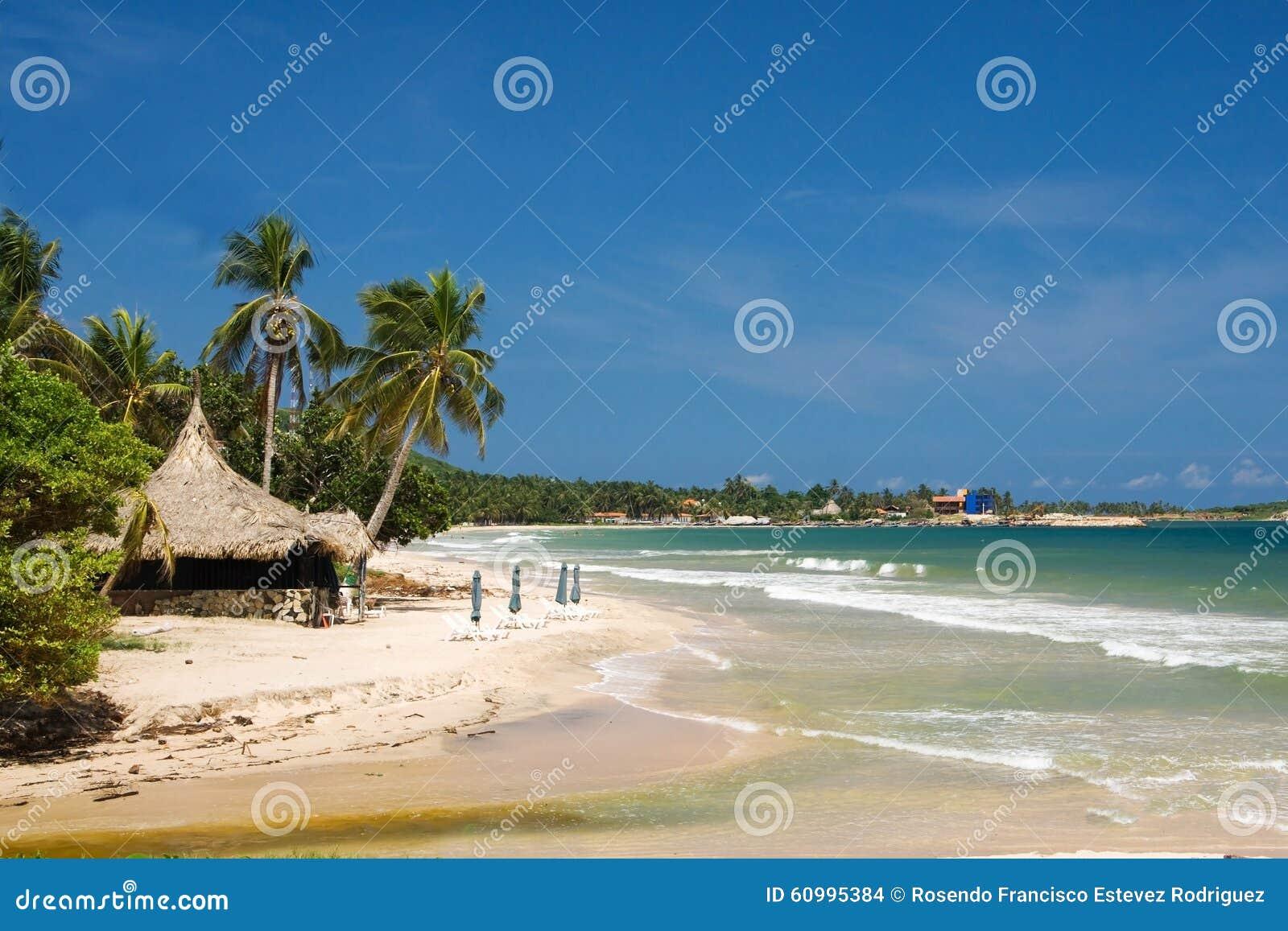 Setzen Sie Auf Margarita Insel Karibisches Meer Venezuela Auf Den