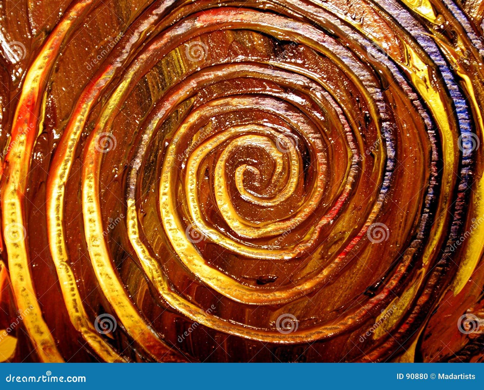 Seules configurations spiralées peintes