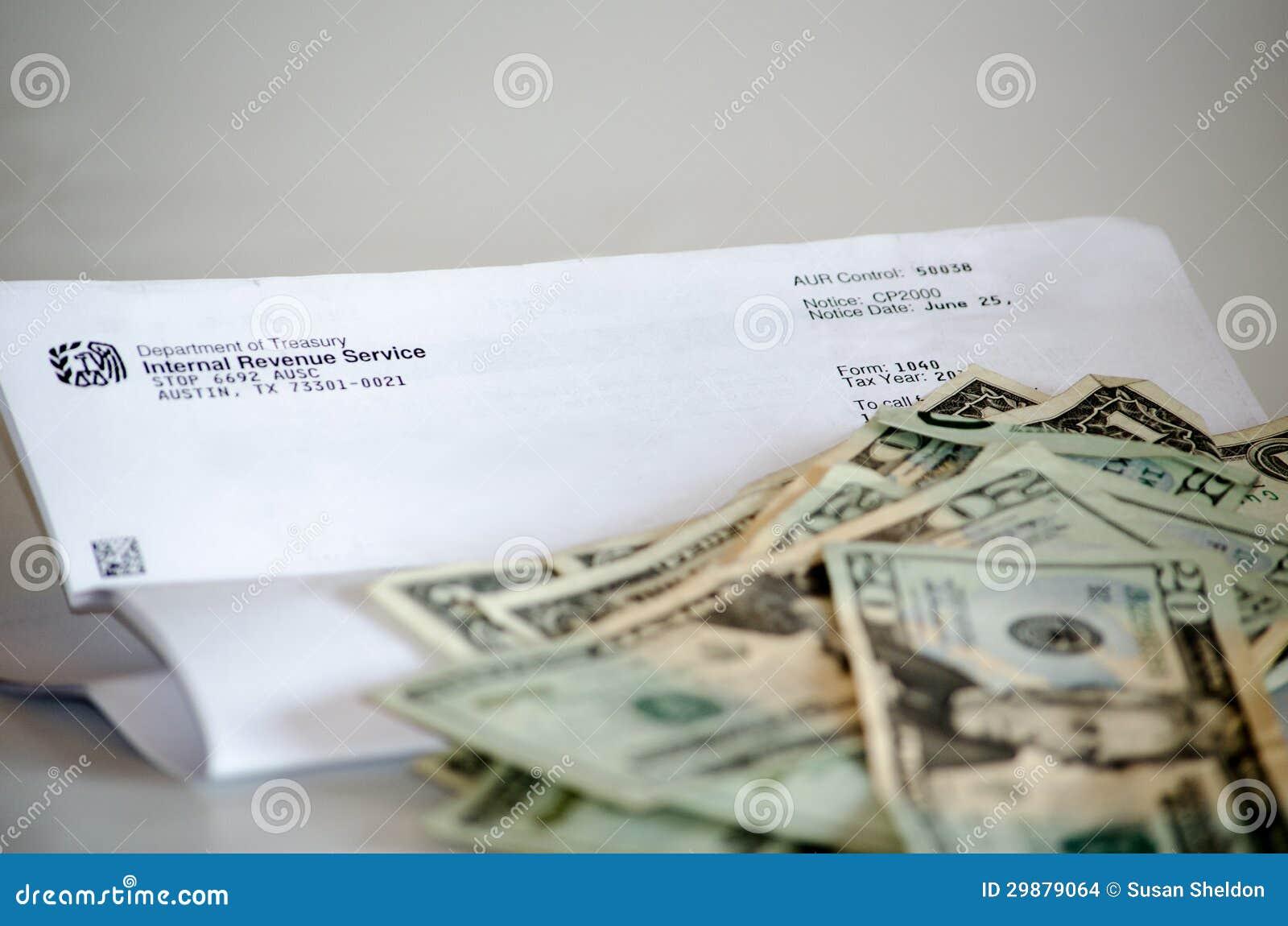 Letra e dinheiro do IRS