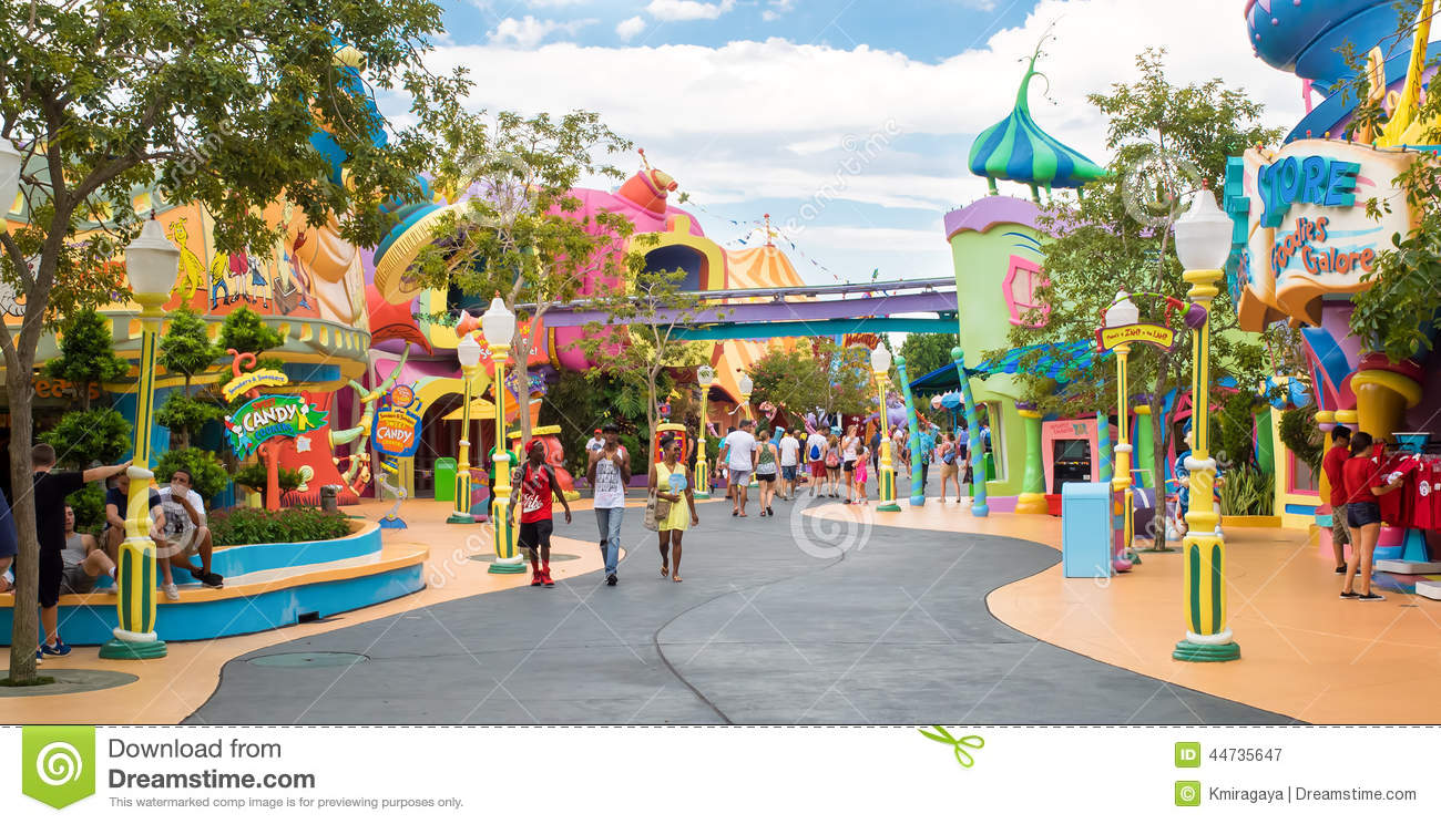 Universal Studios Florida Map.The Seuss Landing Area At Universal Studios Islands Of Adventure