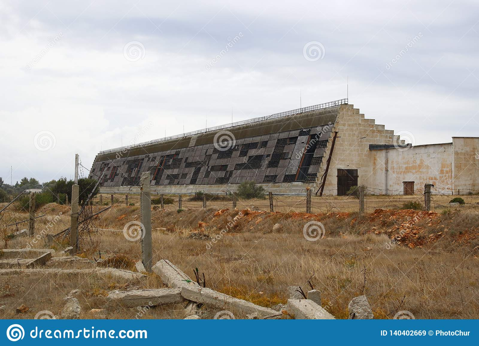 SEVASTOPOL, CRIMEA - SEPTEMBER 2014: Radar station `Dnepr`