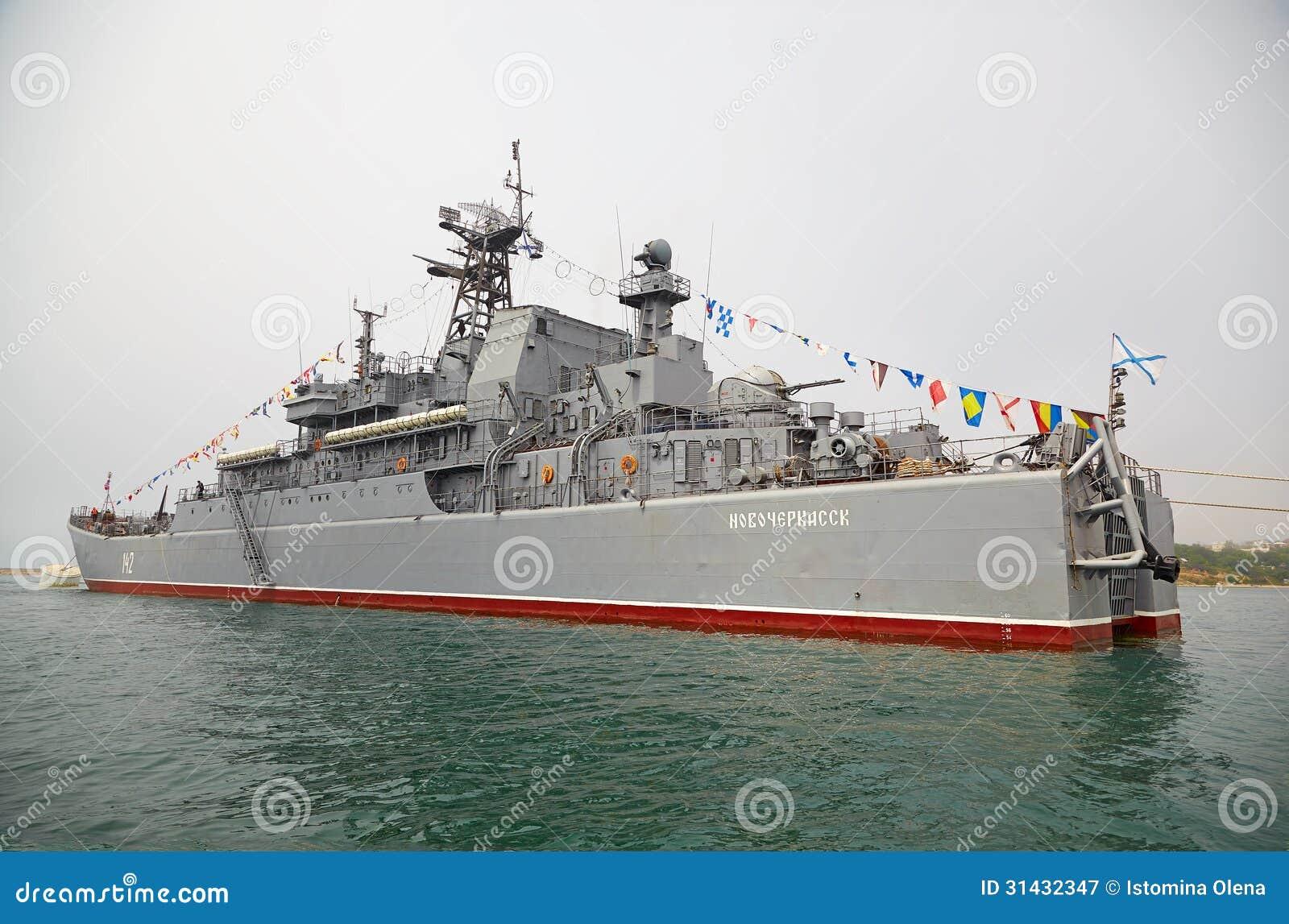 SEVASTOPOL, UKRAINE -- MAY 12: Large Landing Ship  Novocherkassk