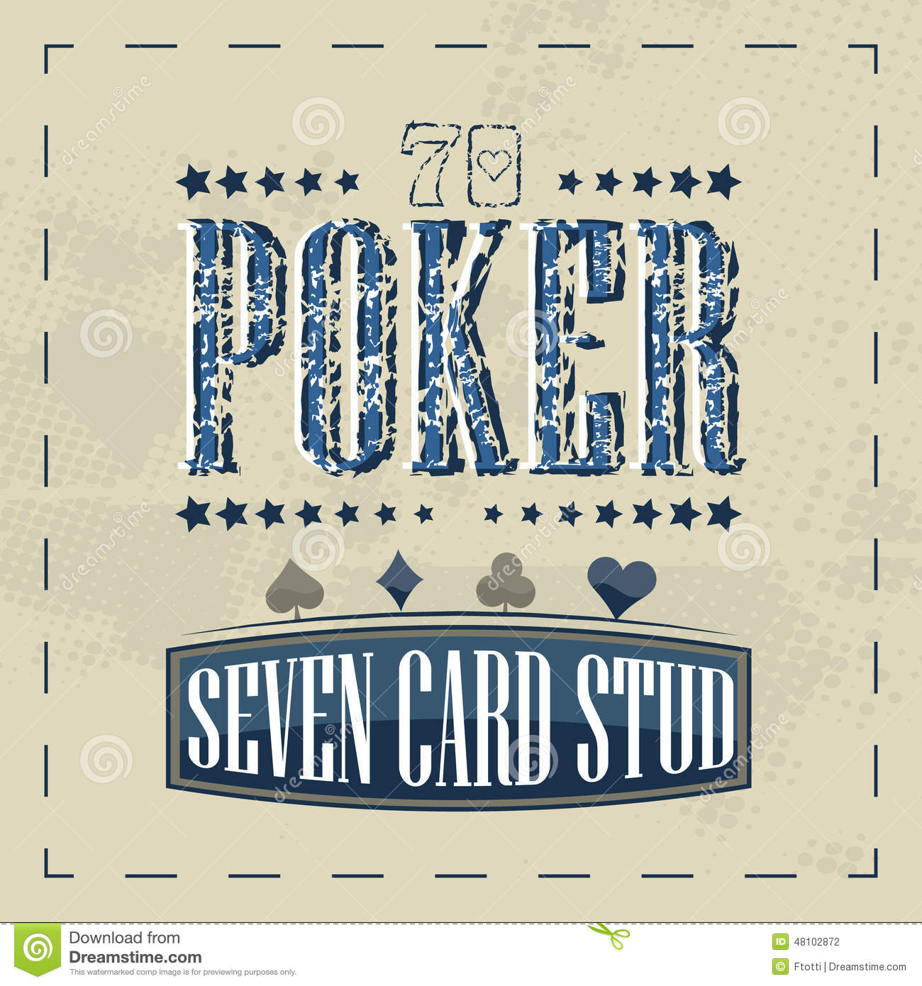 Limit stud hi lo poker