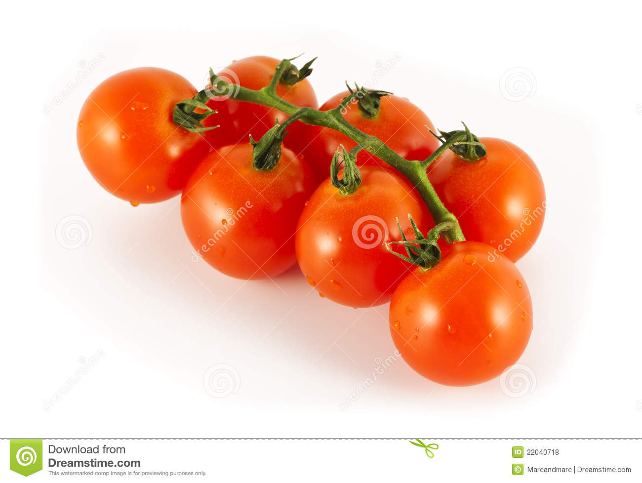 Seven Cherry Tomatoes Royalty Free Stock Photos - Image ...