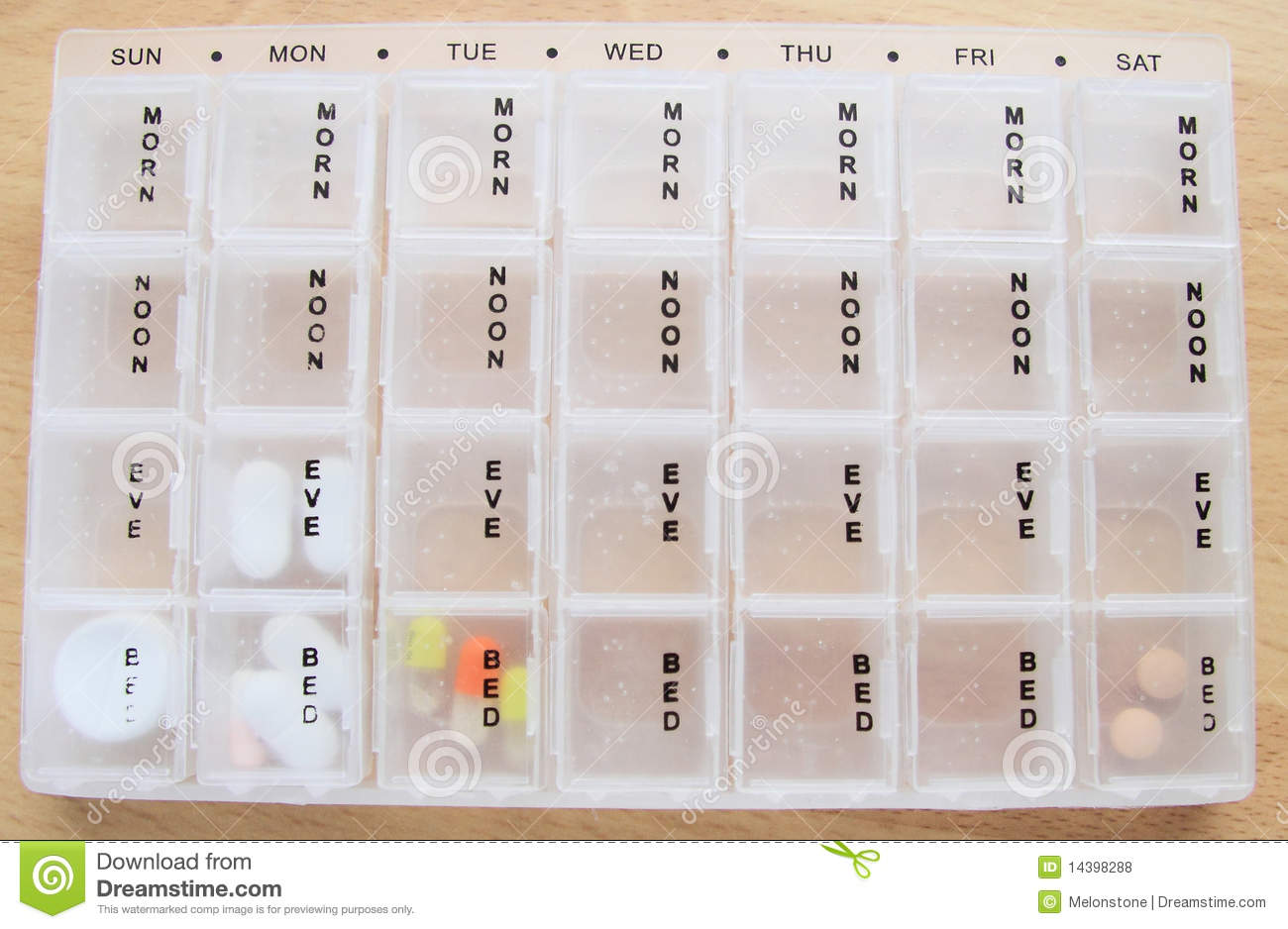 seven day drug box stock photo image of noon  medicine Free Photography Stock Balloons Free Stock Photography