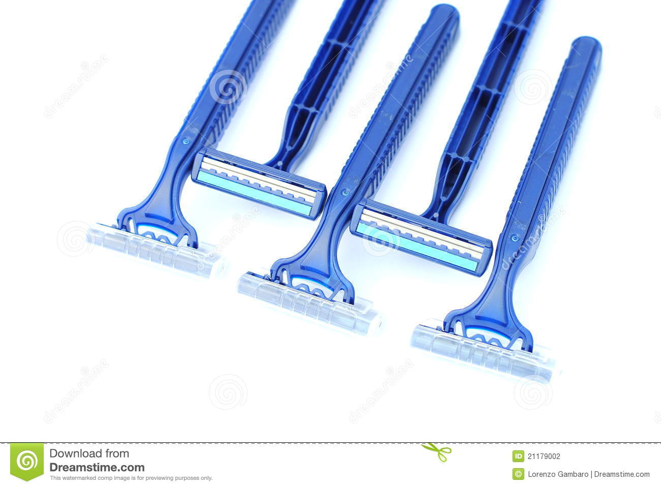 Seven disposable blu razors