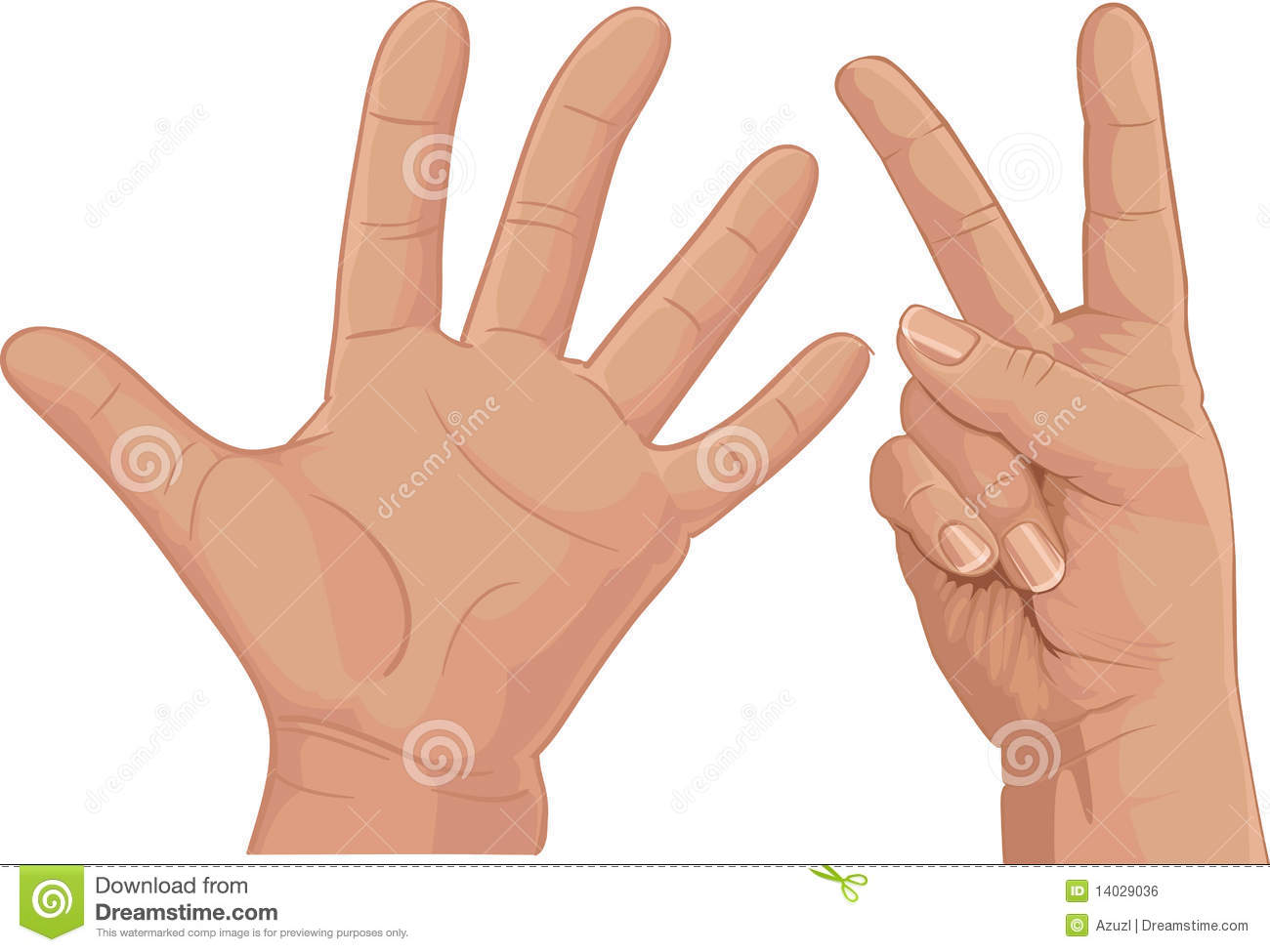 Seven From Fingers Cipher Royalty Free Stock Image