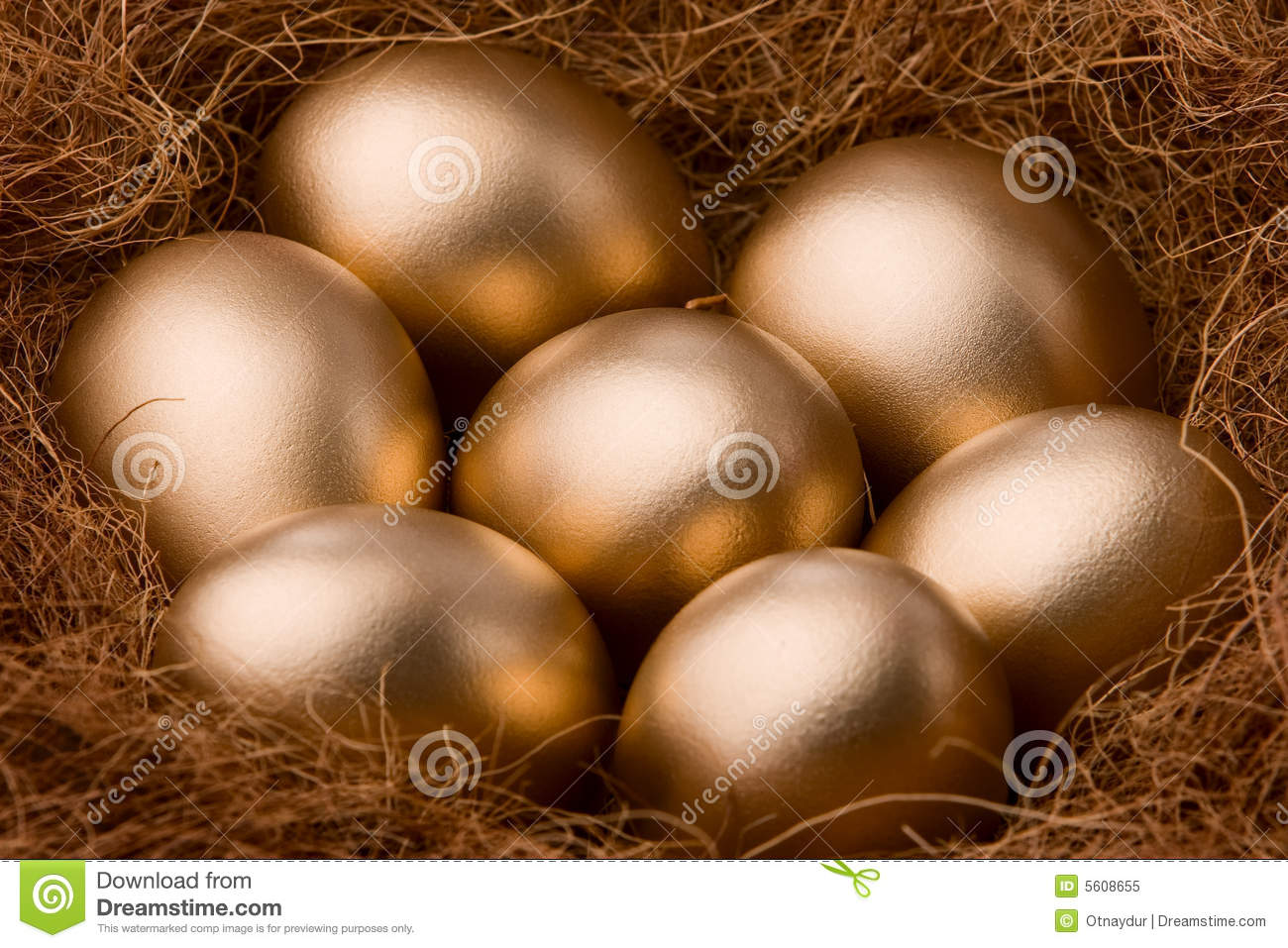 Seven golden egg