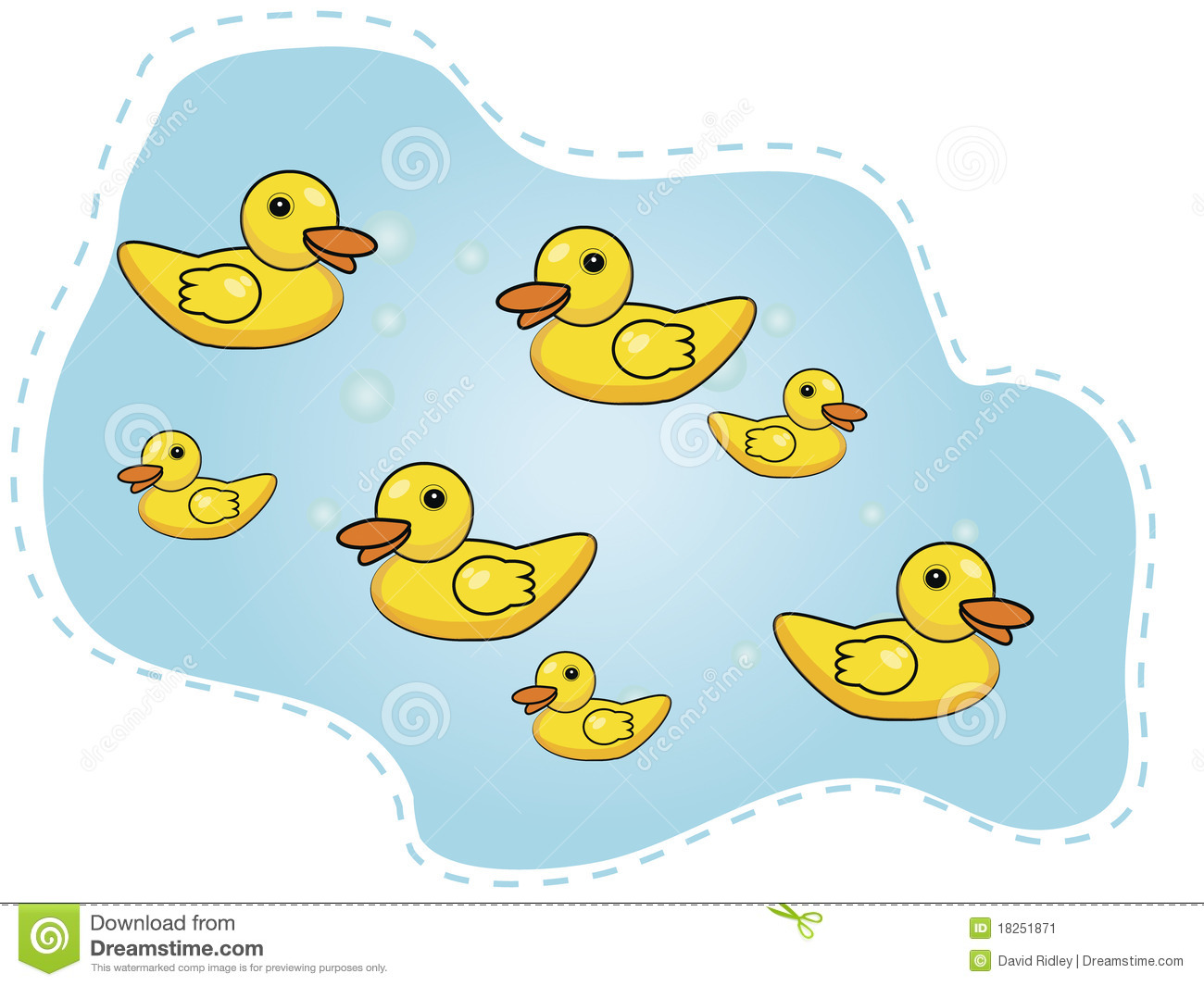 Seven Happy Ducks Swimming In A Pond Stock Image - Image ...
