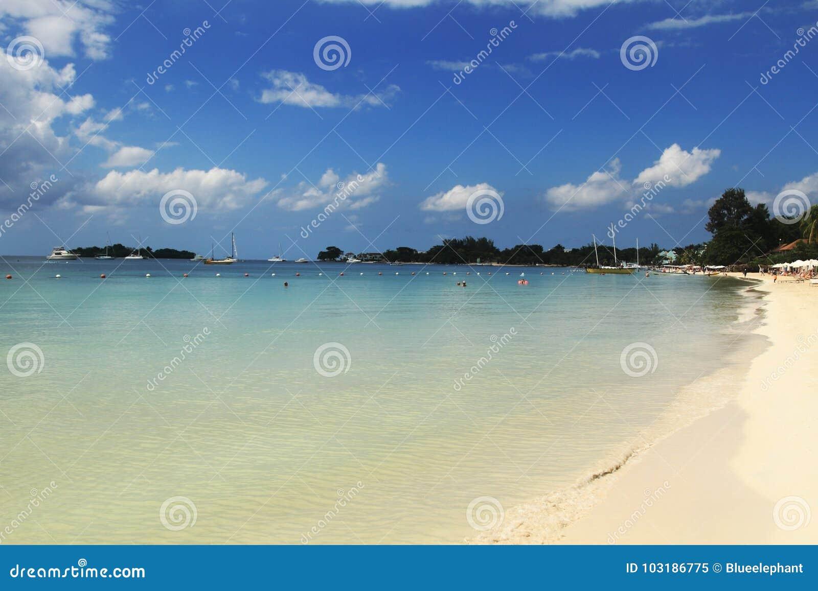 Seven mile beach. Jamaica, Negril