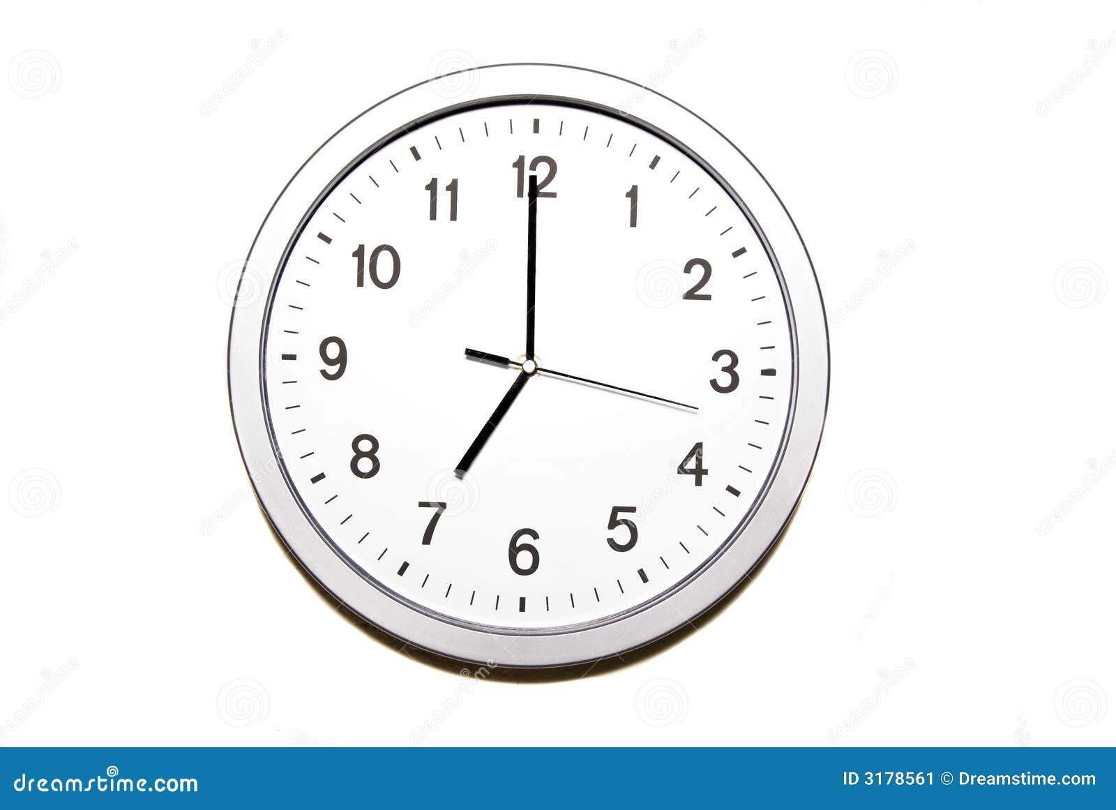 seven o clock stock image image 3178561 Clock for Telling Time Clip Art clock clipart for teachers