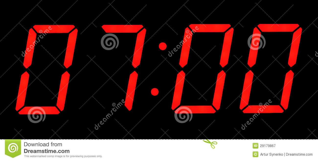 At Seven O'clock In The Morning Royalty Free Stock Photography - Image ...