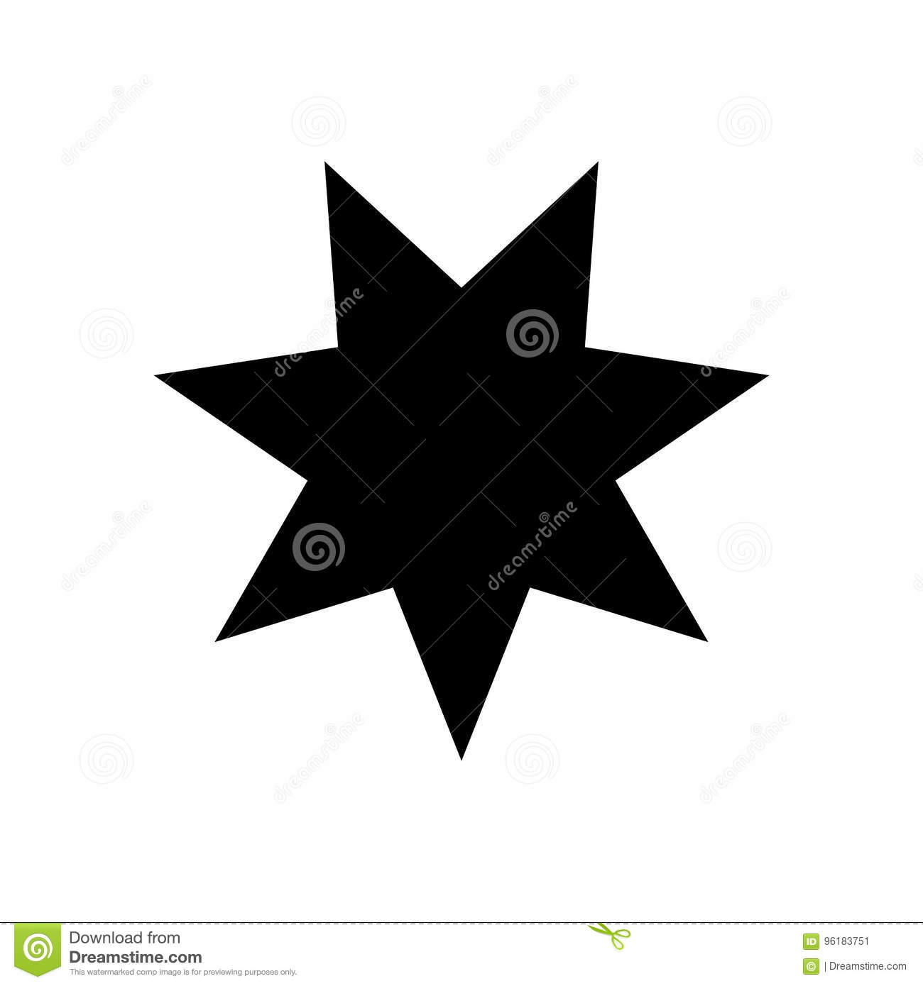 Seven-pointed Star - Vector Icon Seven-pointed Star Icon Vector ...