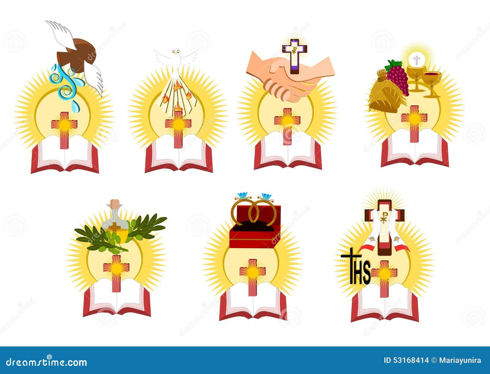 Sacraments stock vector illustration of baptism spiritual 54492496 the seven sacraments stock images biocorpaavc