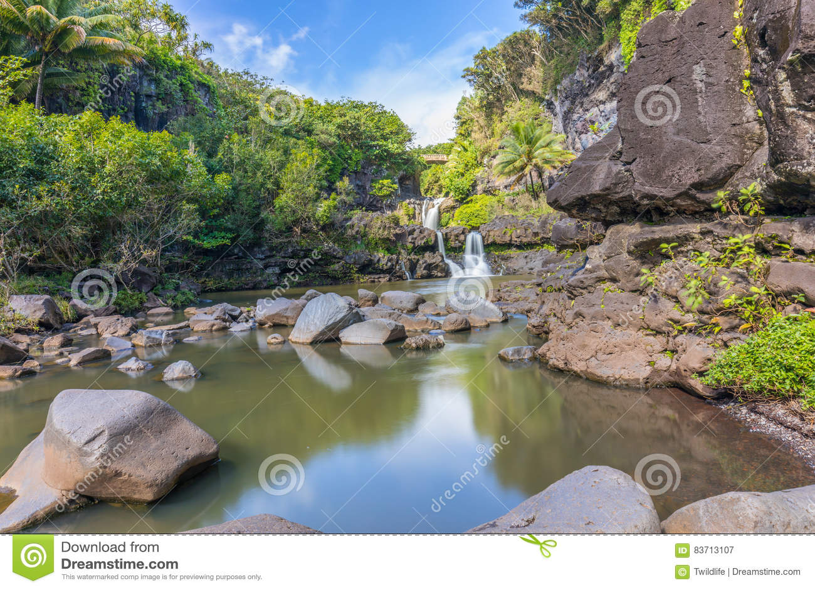 Seven Sacred Pools Hana Maui Stock Photo