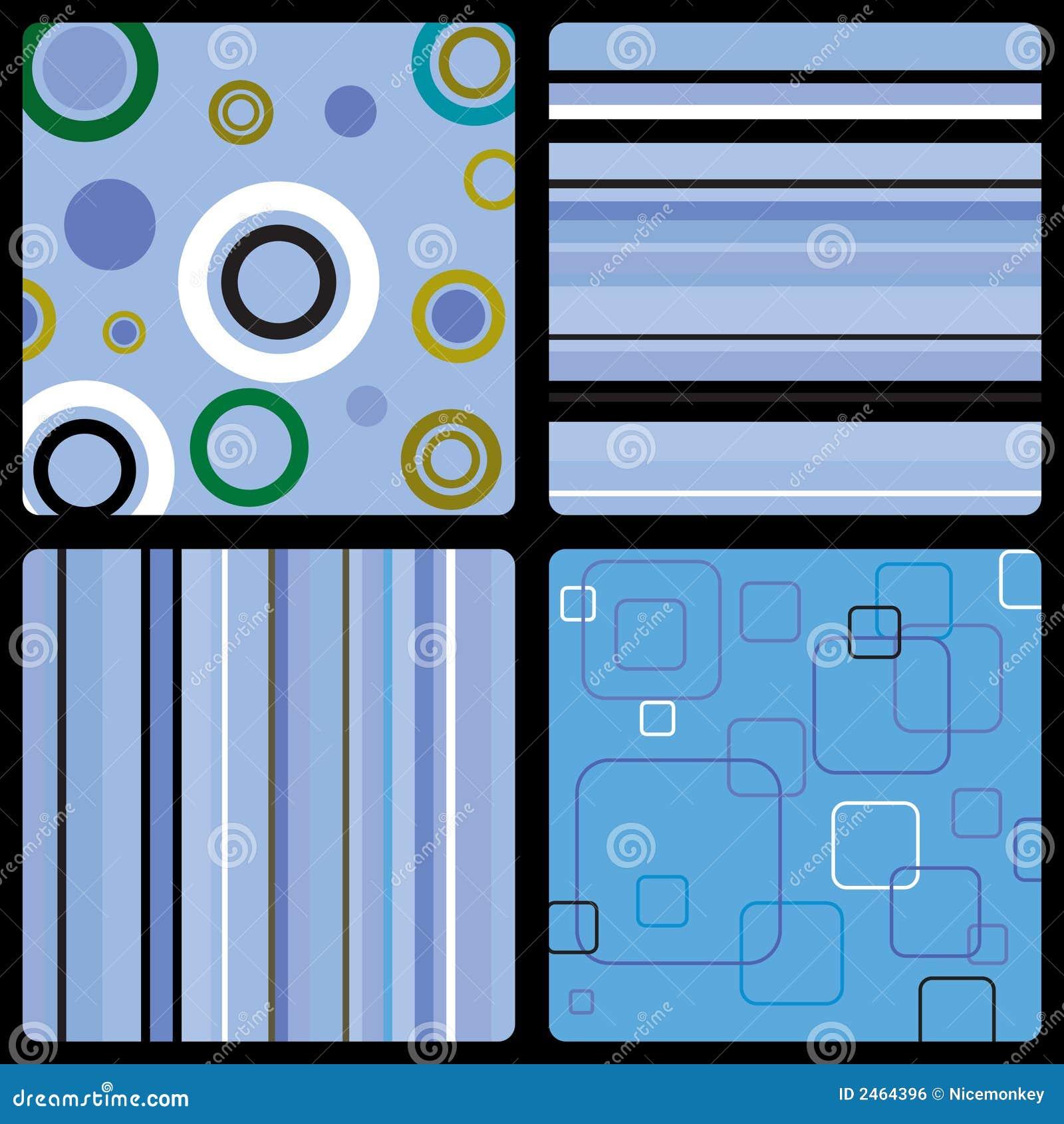 Seventies wallpaper blue