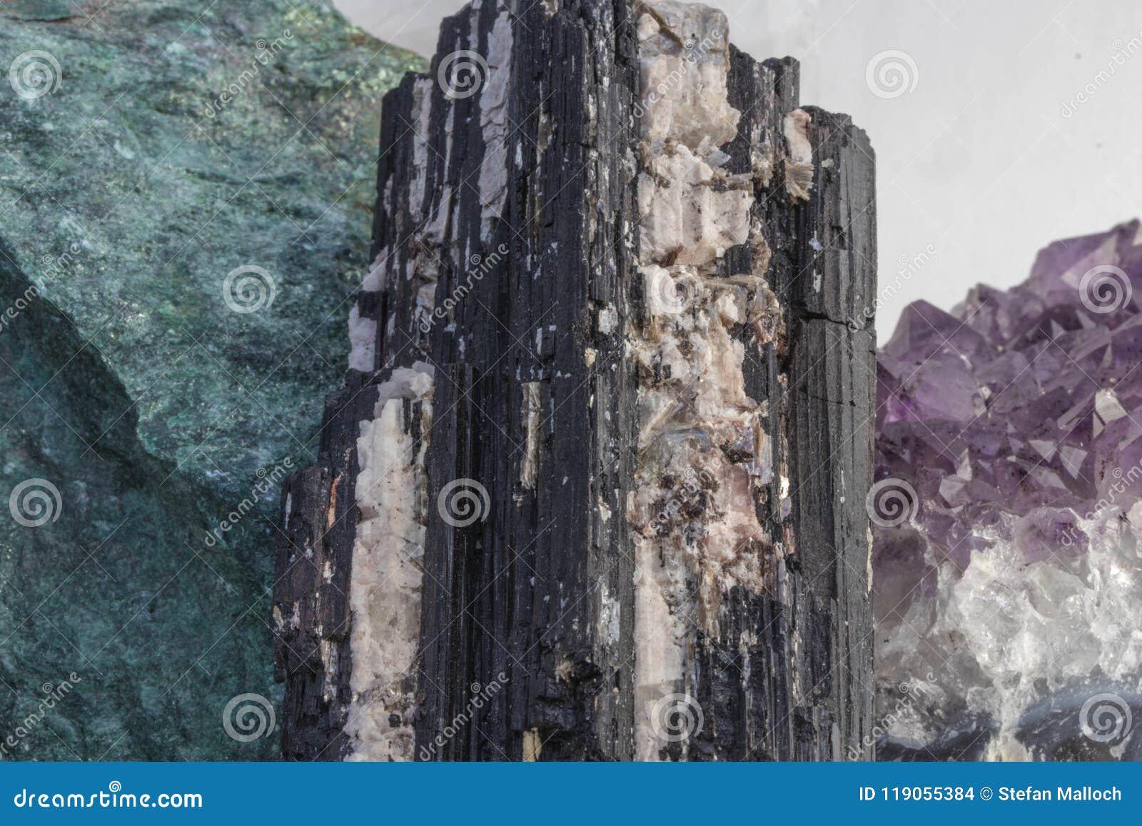 Several Beautiful Healing Crystals Close Up