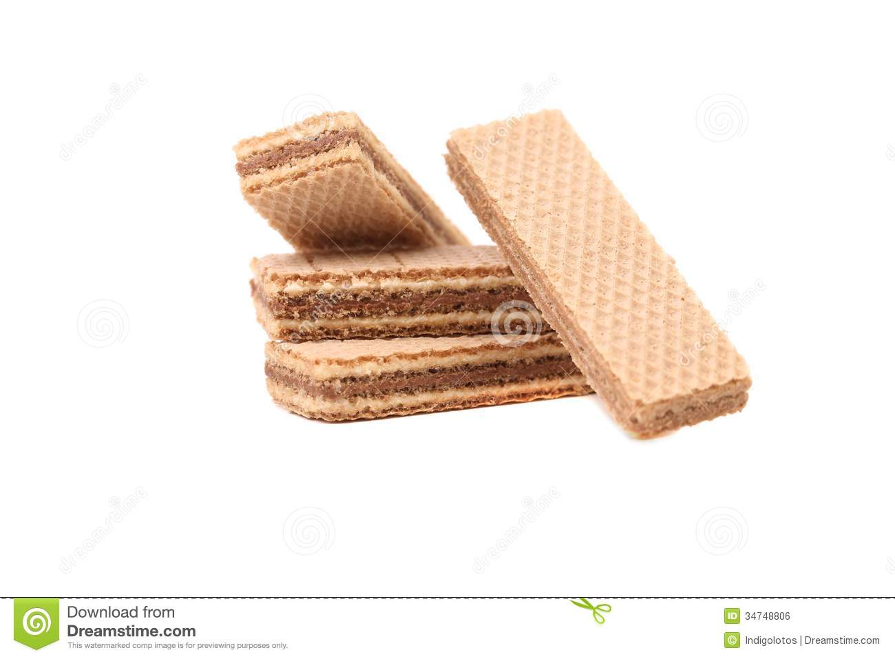Several Chocolate Wafers. Royalty Free Stock Image - Image: 34748806