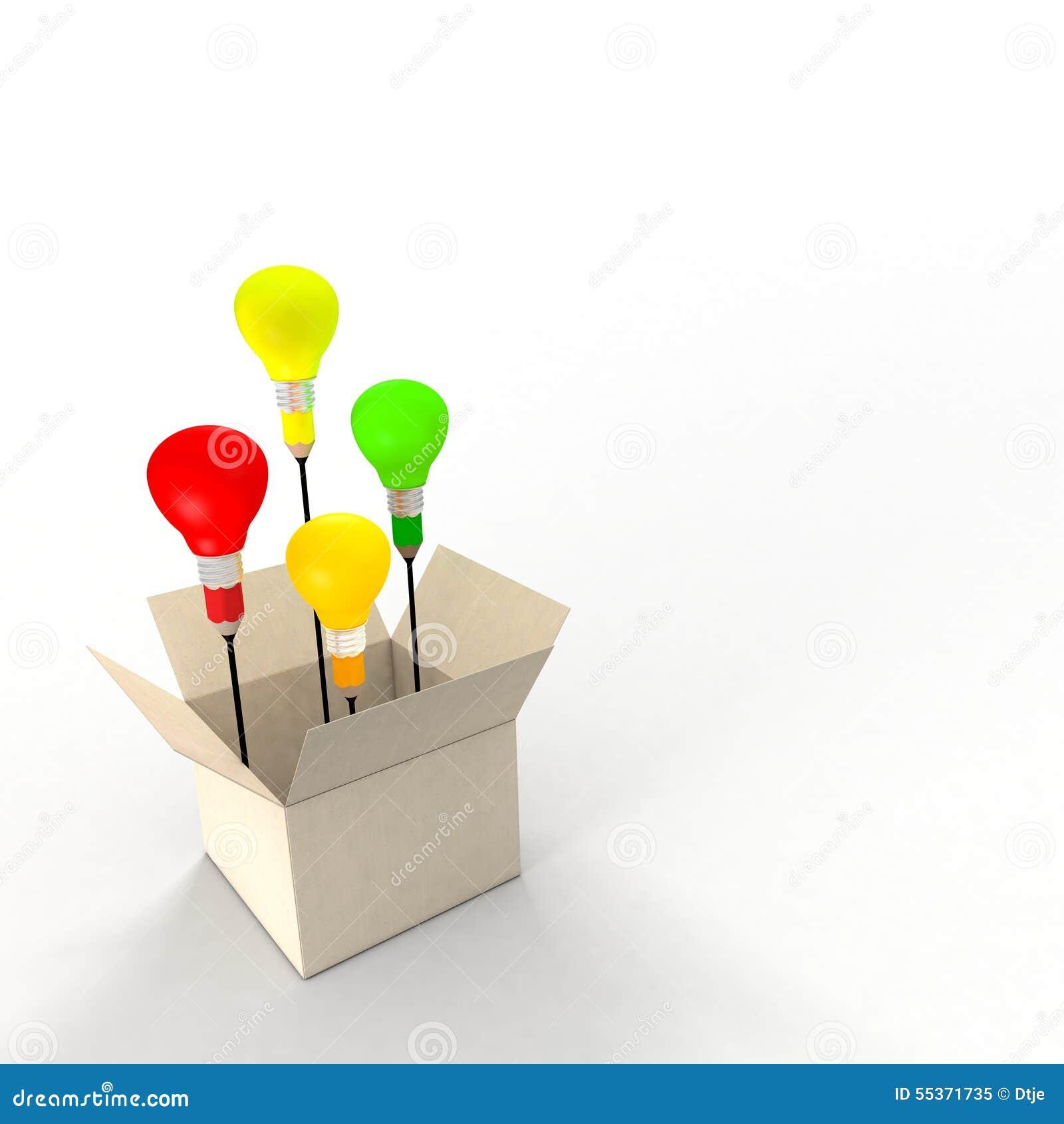 Several Ideas Emerging From An Idea Box Metaphor Concept