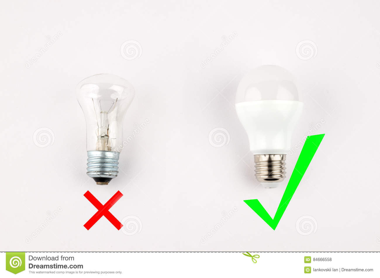 Several Led Energy Saving Light Bulbs Over The Old Incandescent Use Of Economical And
