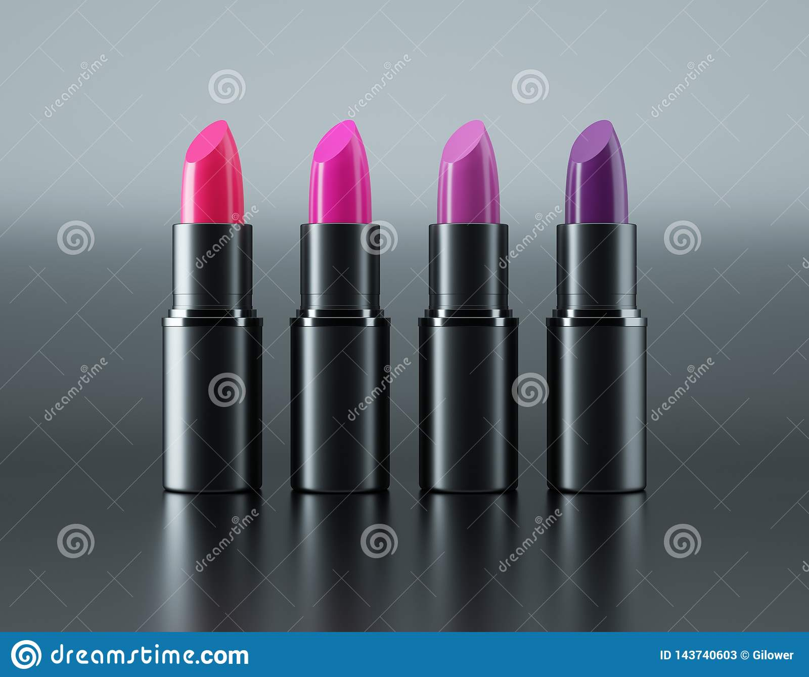 Varied lipstick red and violet