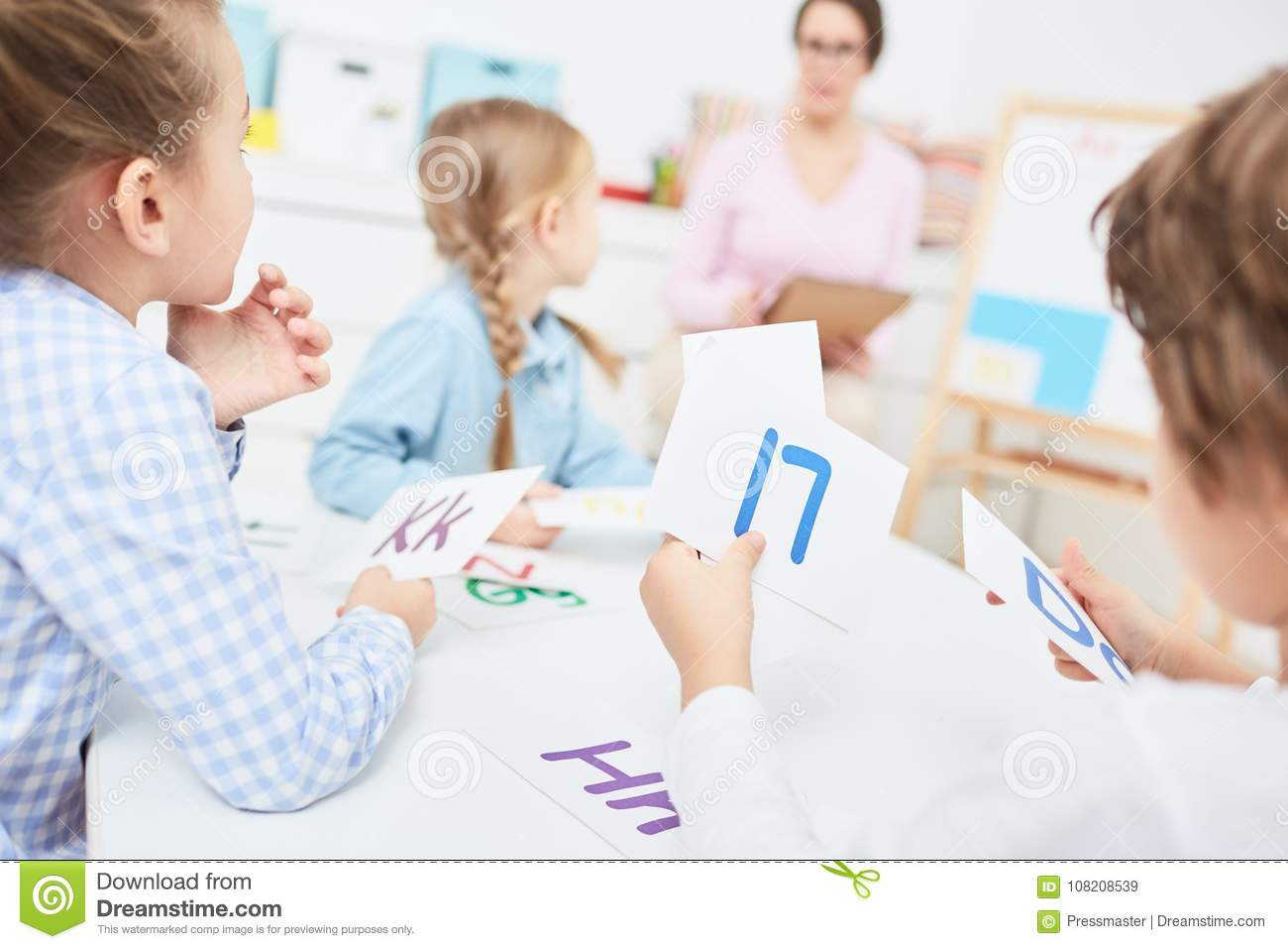 Learning English Stock Image Image Of Little Child