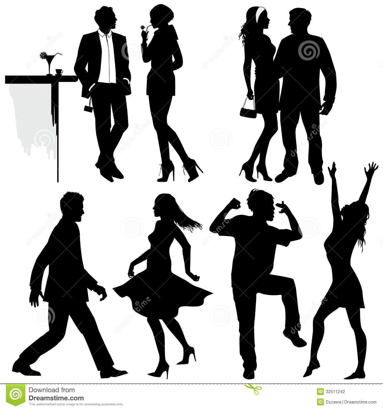 Several People Are Dancing On The Party Stock Photography - Image ...