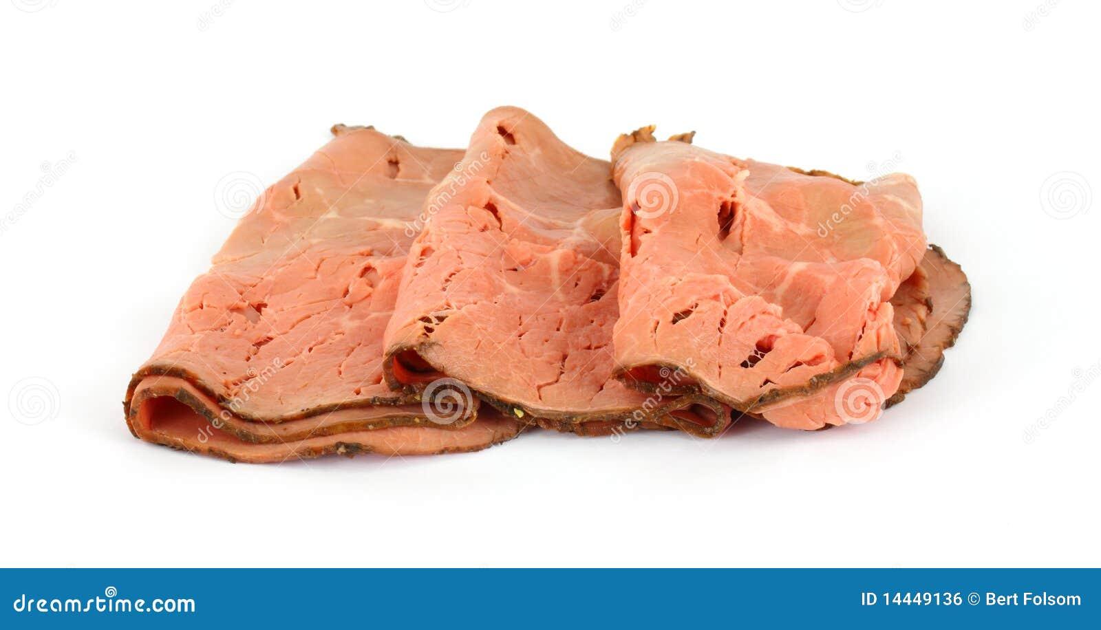 Sliced roast beef package - Several Slices Of Fresh Roast Beef