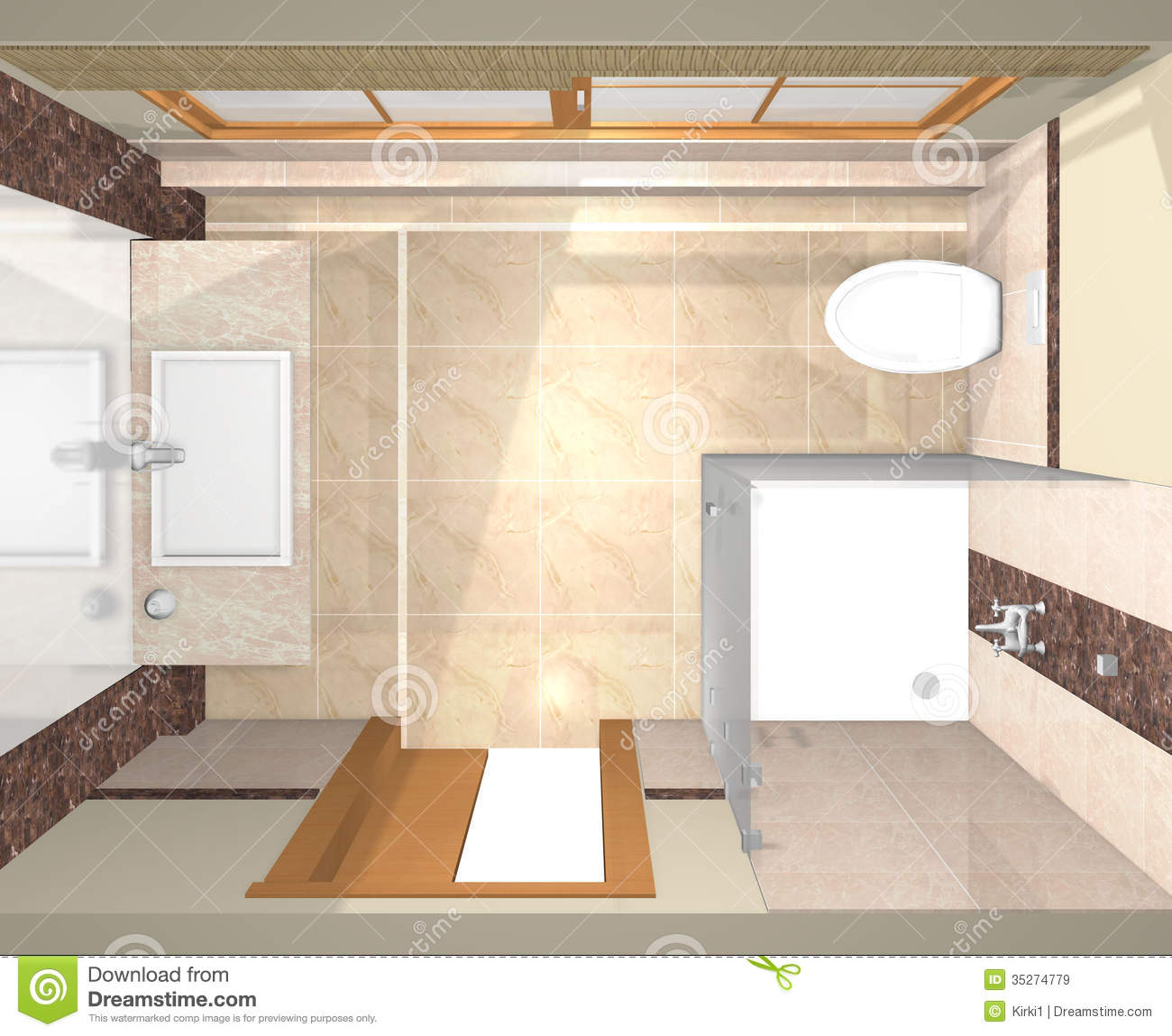 Several views of luxury bathroom royalty free stock images for Renovated bathrooms images