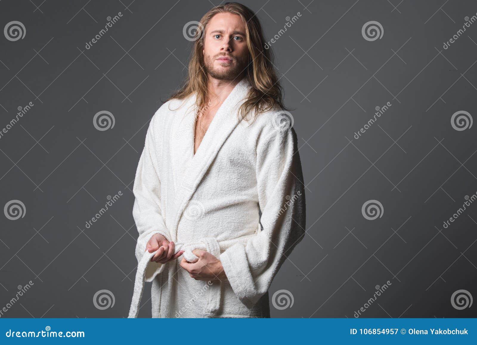 Severe Man Clothing His Housecoat Stock Image Image Of Fresh Background 106854957